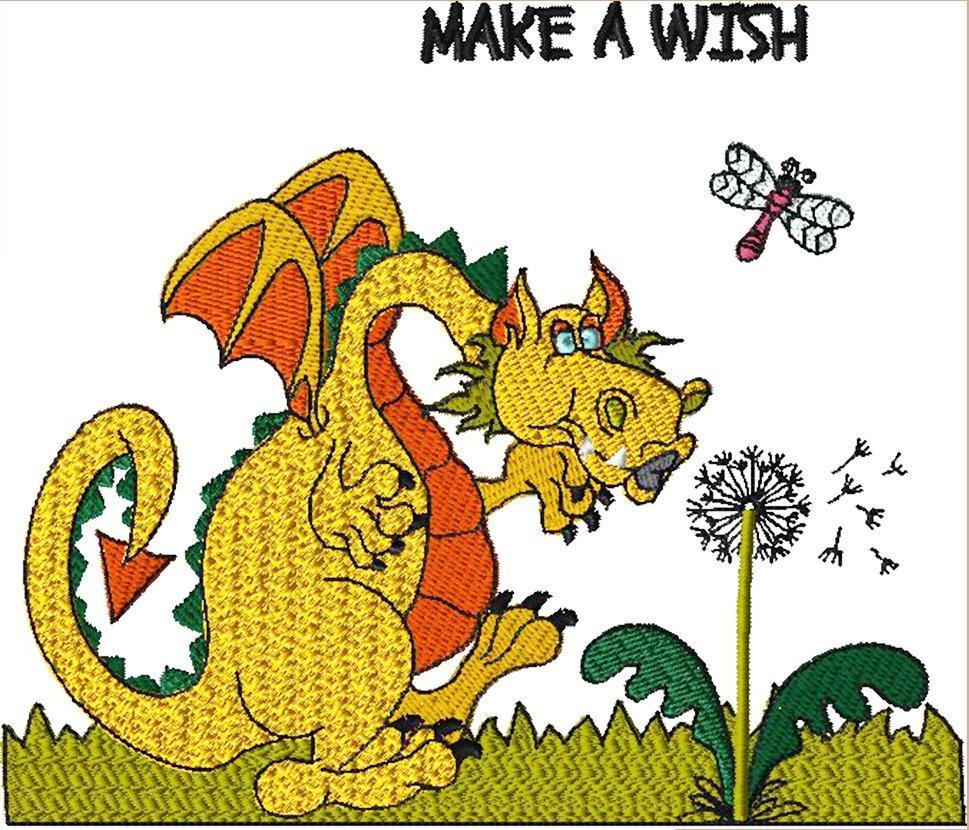 Dragon 7 Wish Dragon Embroidery - Download
