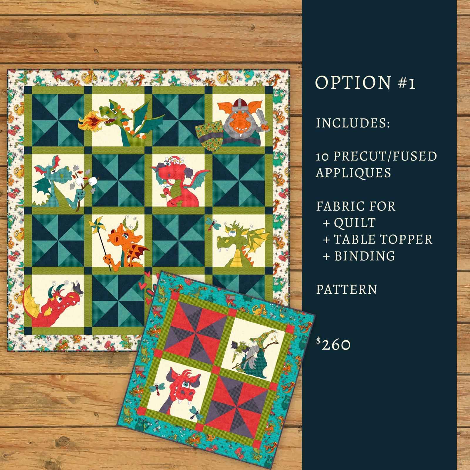 Dragon Applique Quilt