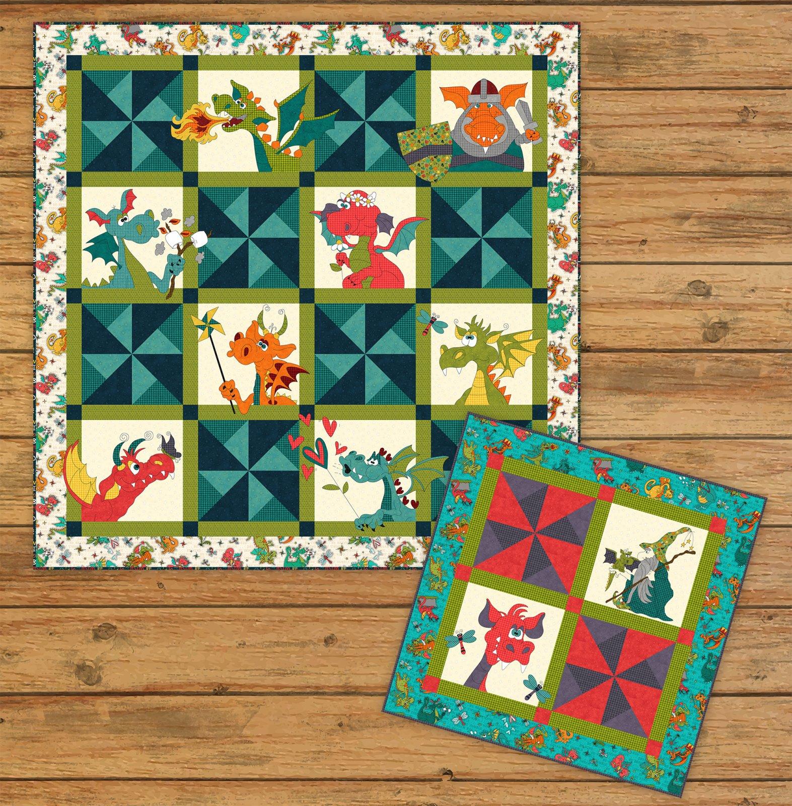 Dragon Applique Quilt & Table Topper Pattern