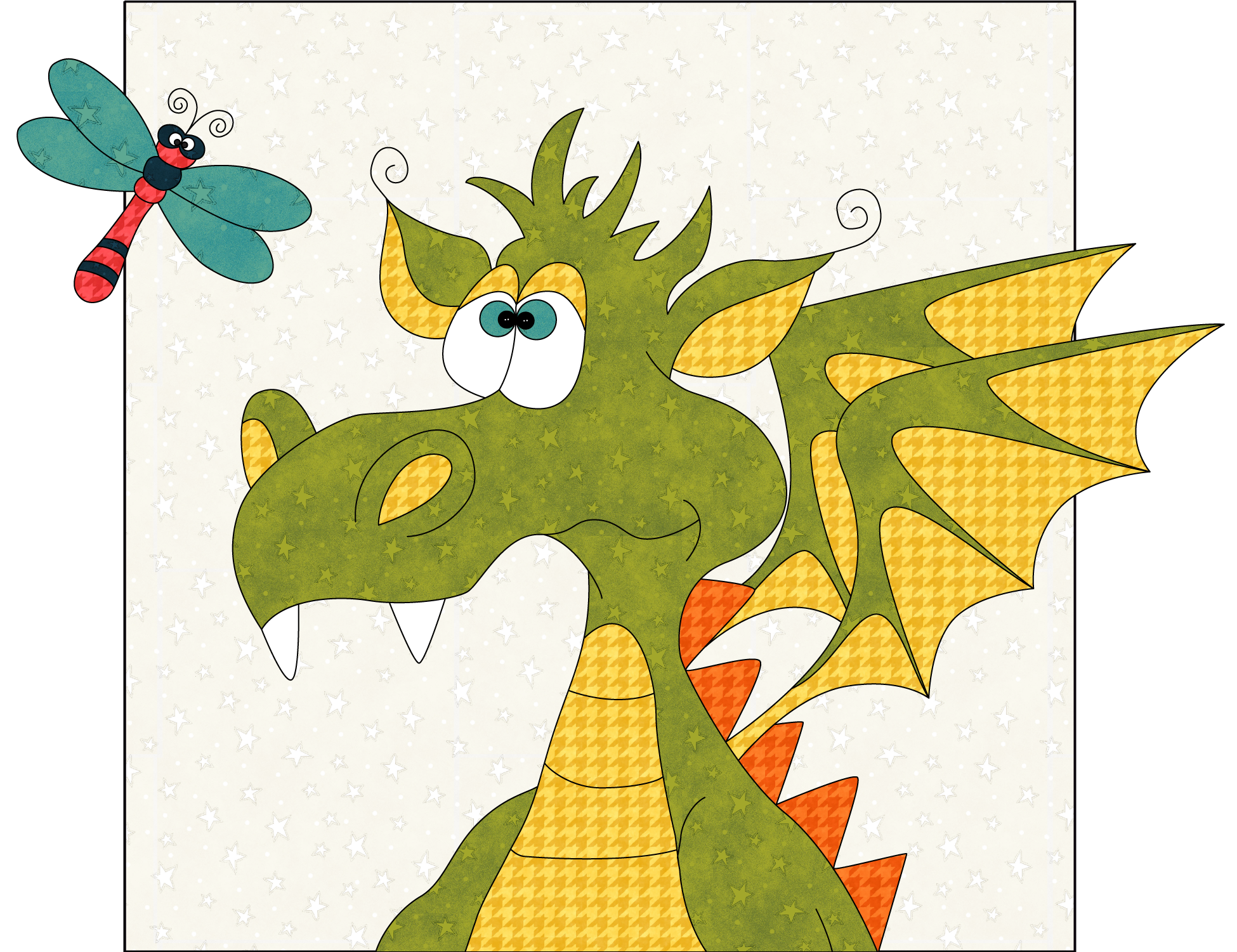 Curious Dragon Precut Fused Applique Pack