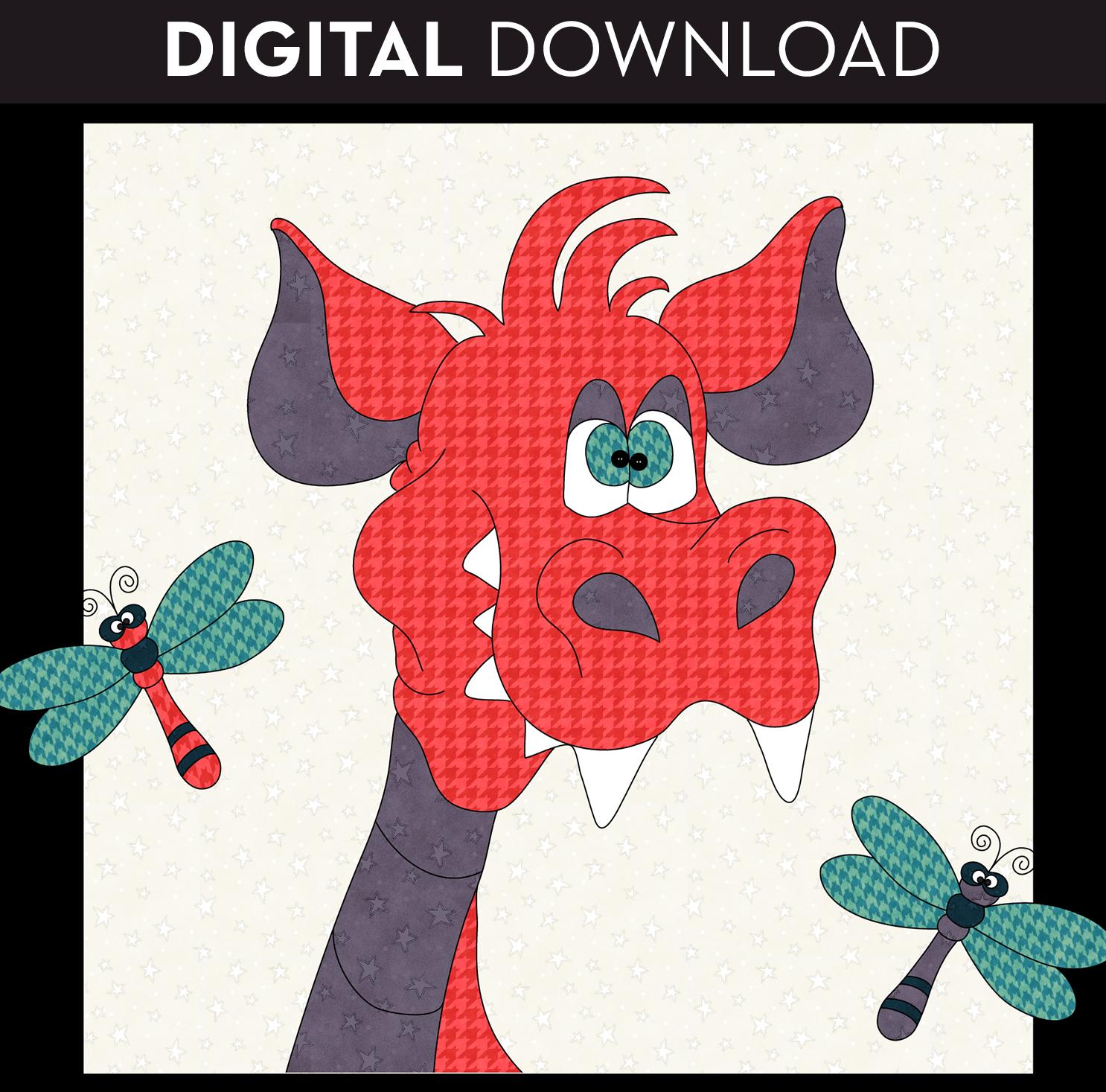 Dragonflies & Dragon Applique - Download
