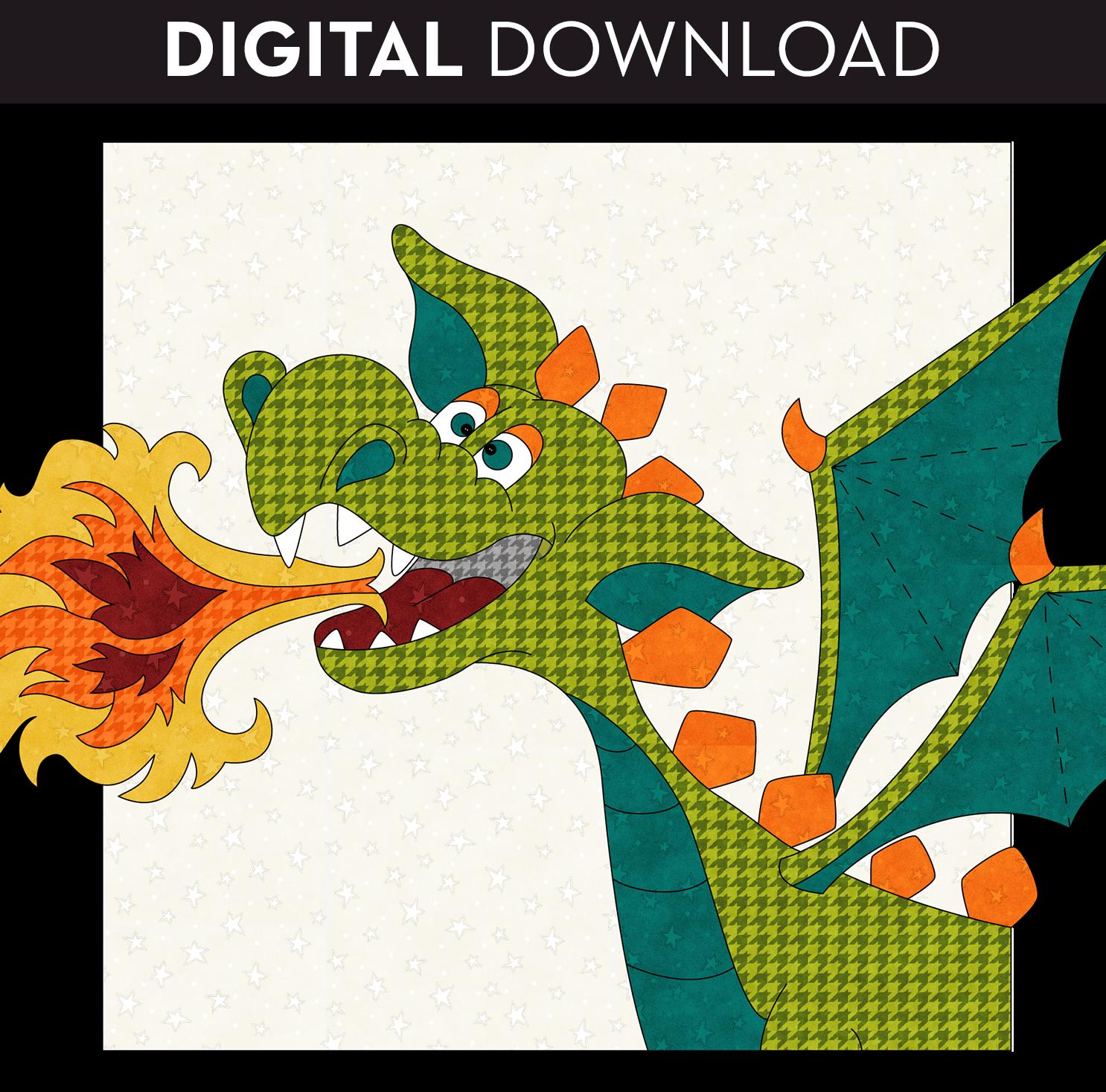 Fire Dragon Applique - Download