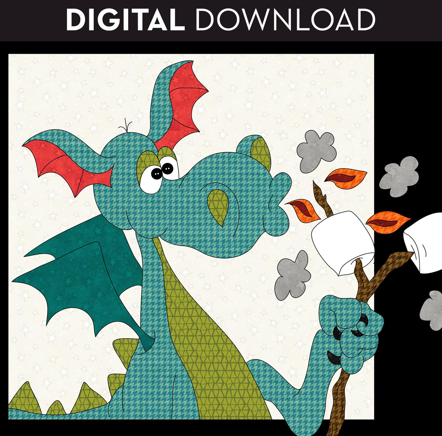 S'Mores Dragon Applique - Download
