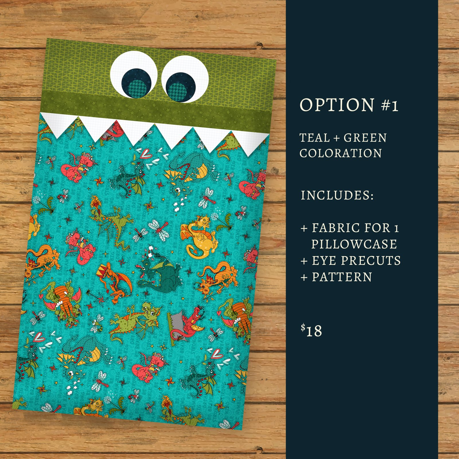 Dragon Pillowcase - Kit