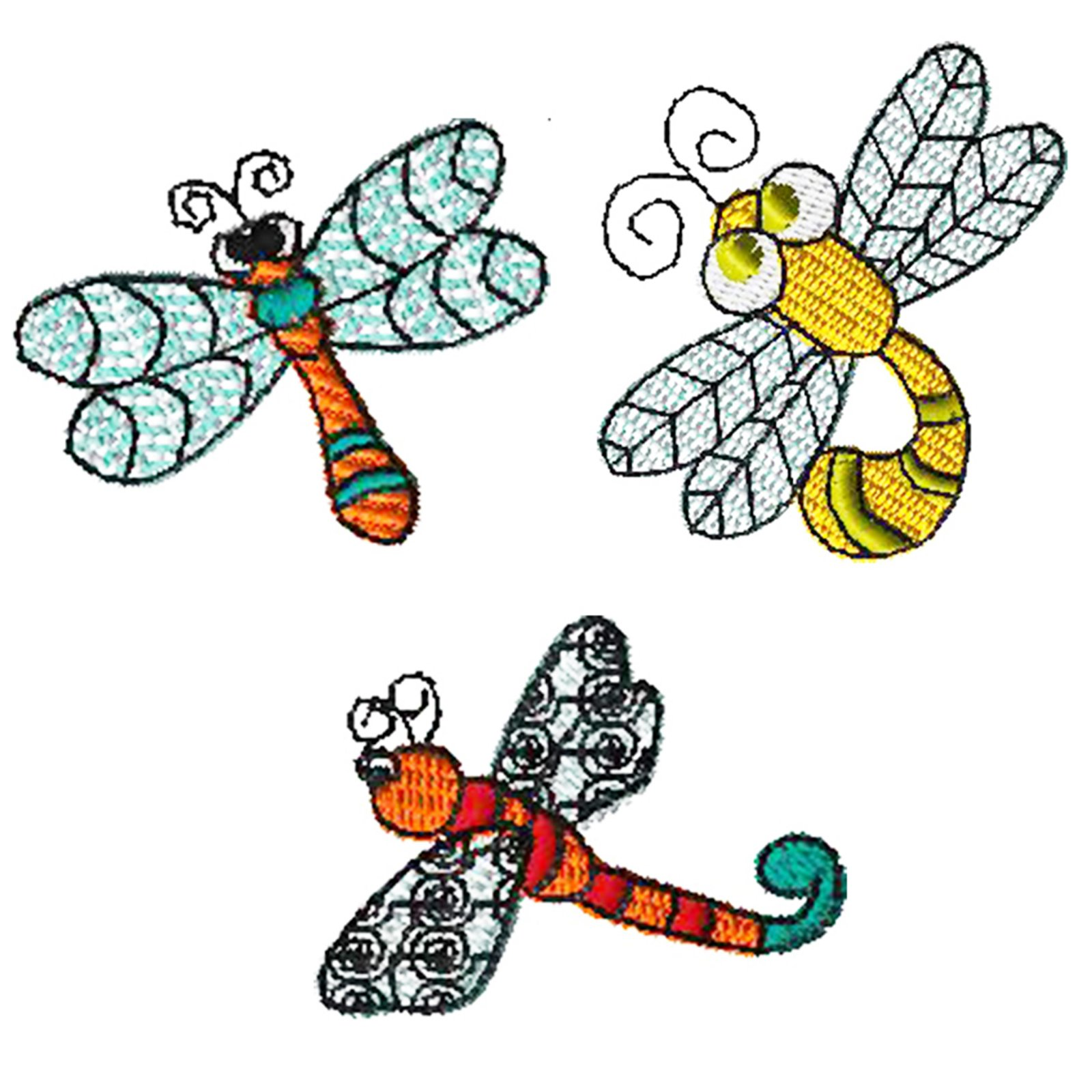 Dragonflies Embroidery - Download