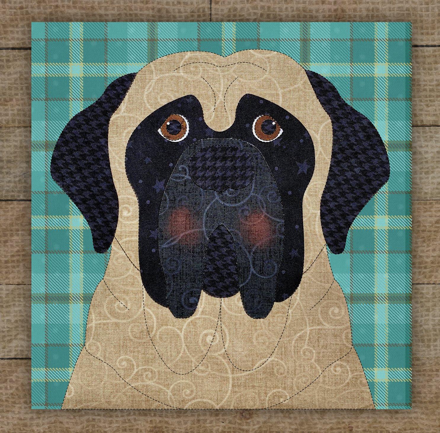 English Mastiff Precut Fused Applique Kit