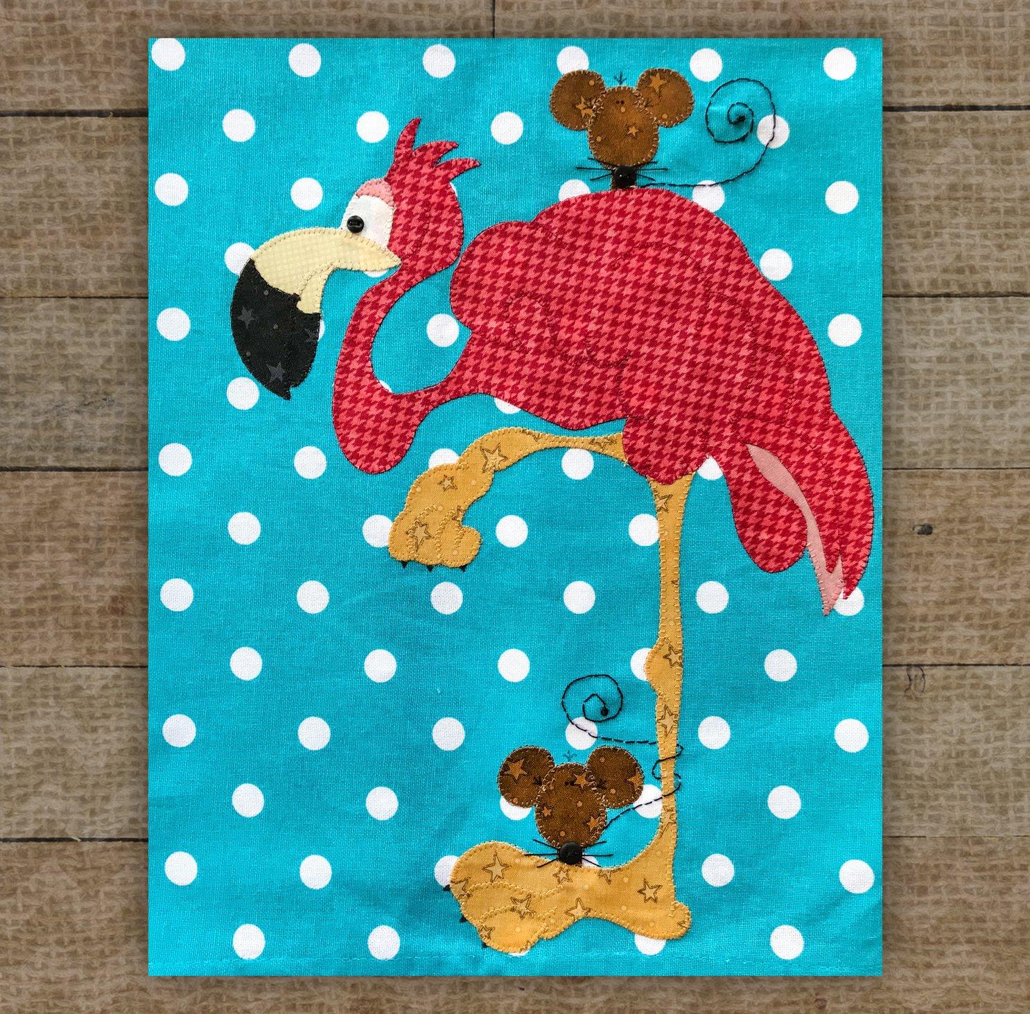Flamingo Precut Fused Applique Kit