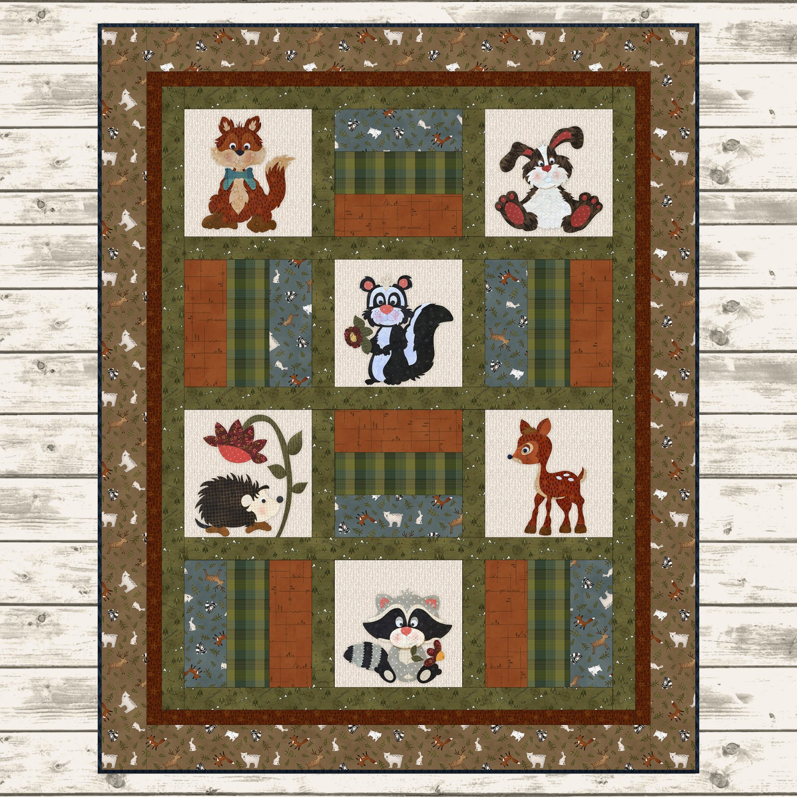 Flannel Woodland Critter Quilt