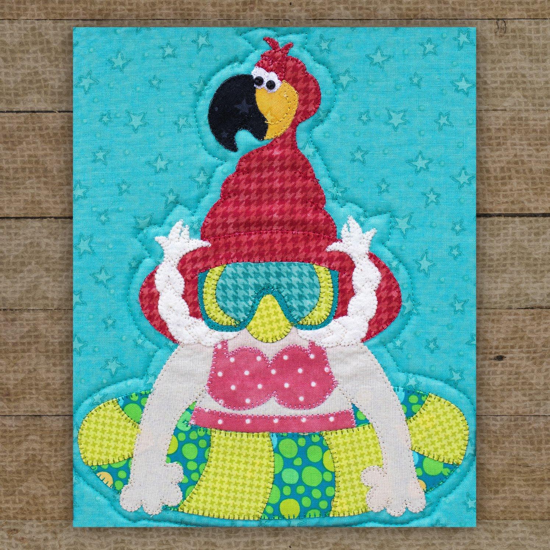 Floaty Flamingo Gnome Precut Fused Applique Pack