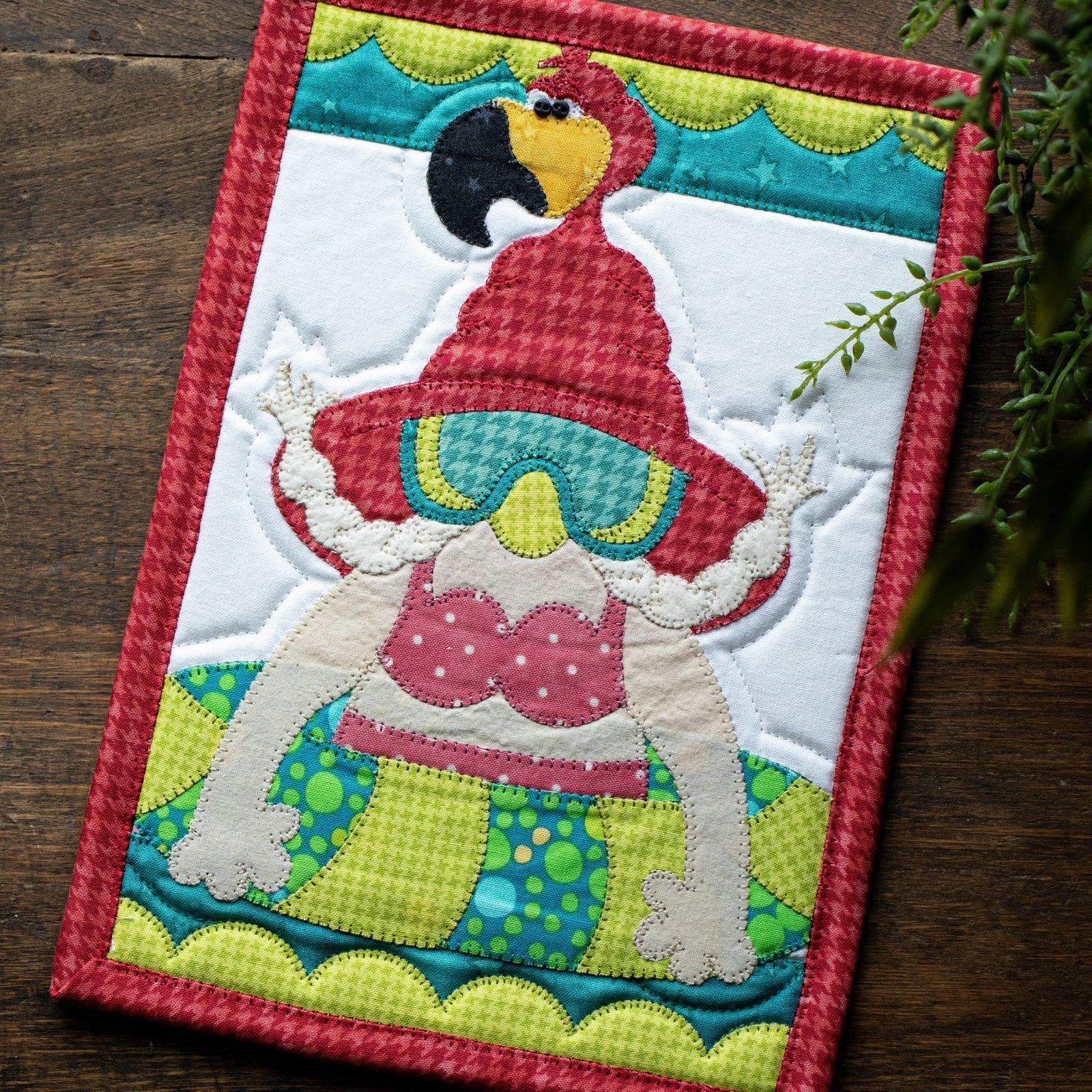 Floaty Flamingo Gnome Mug Rug Kit