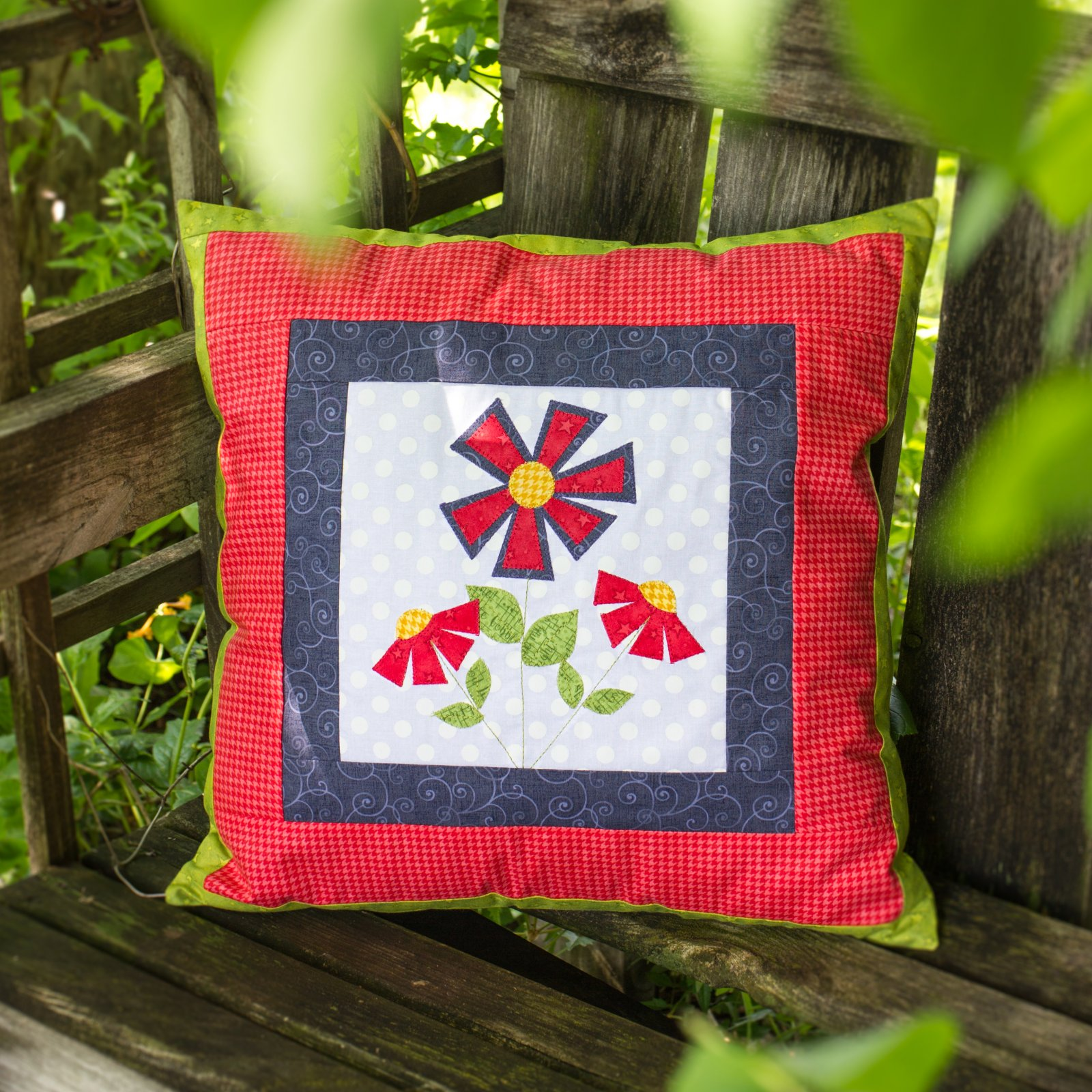Flower Pillow Cover (Applique not included)