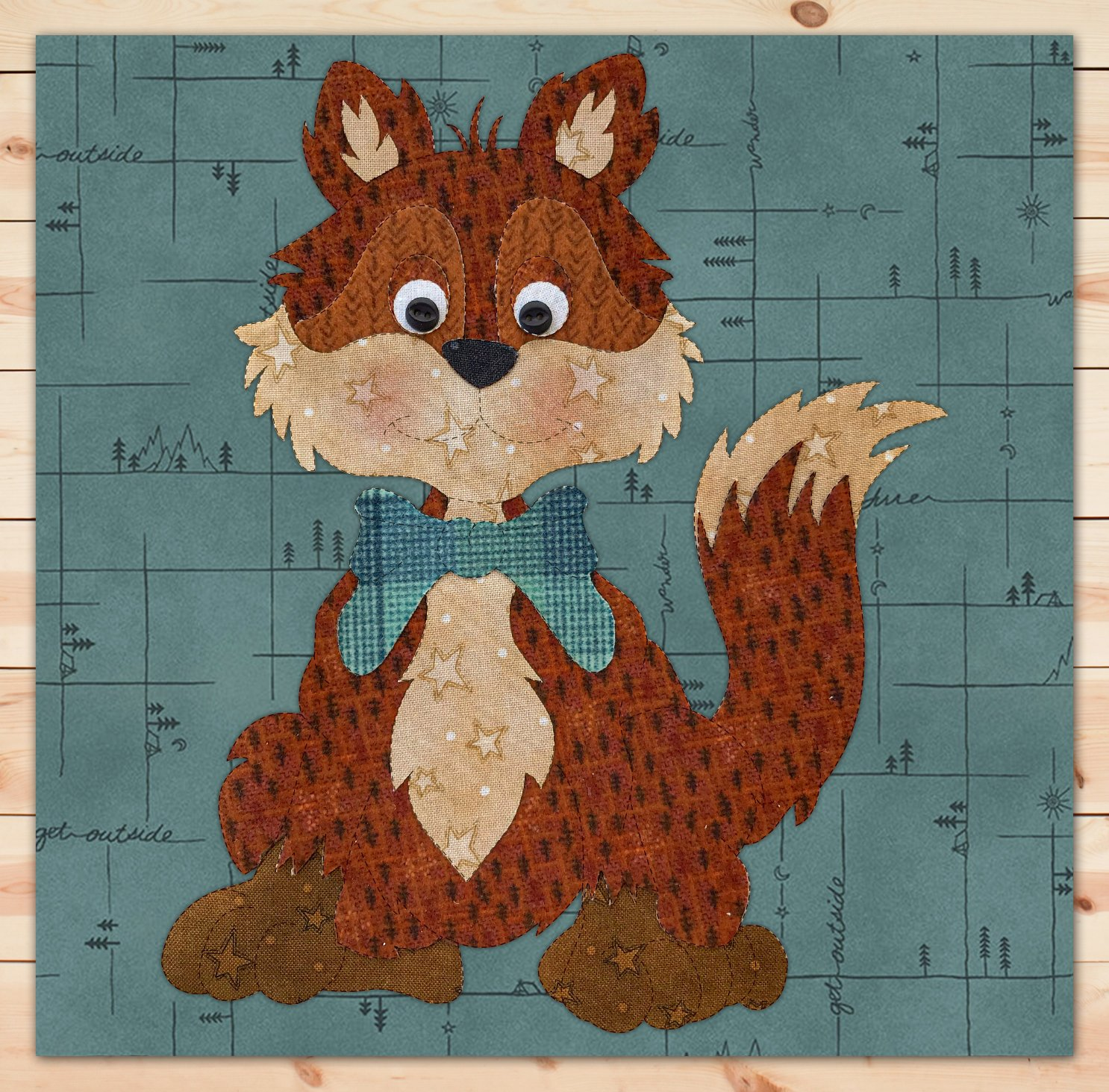 Fox Flannel Precut Applique