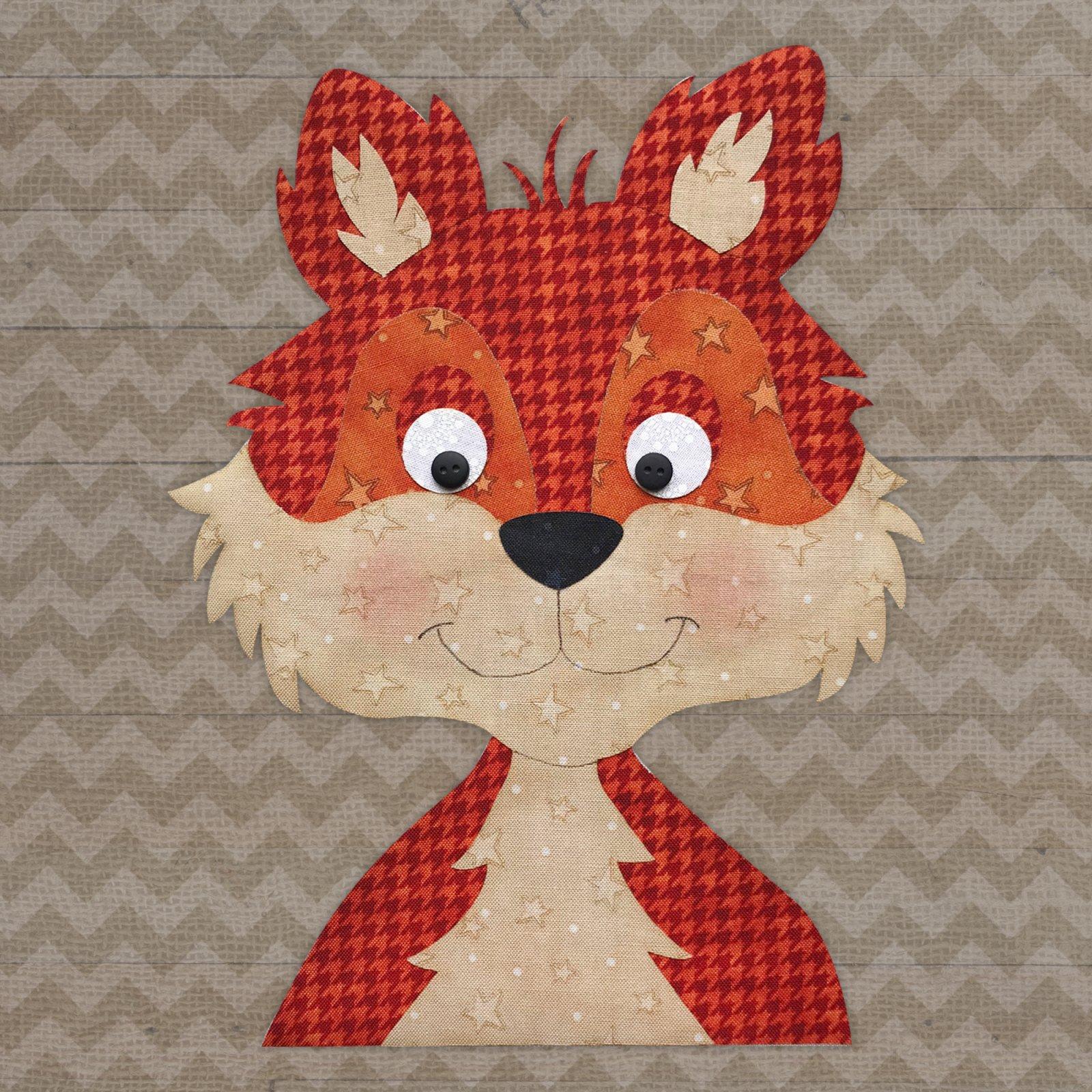 Fox Head Precut Applique