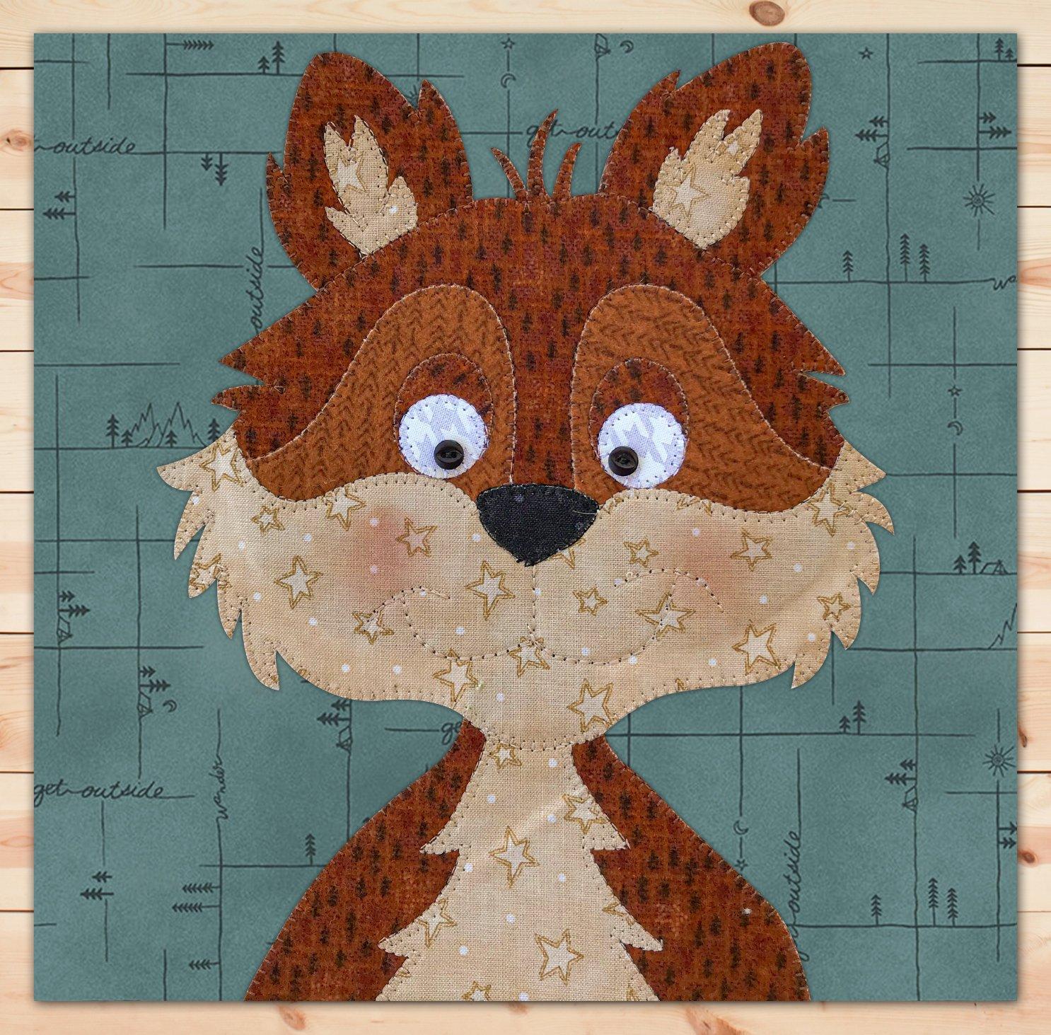 Fox (Large) Flannel Precut Applique