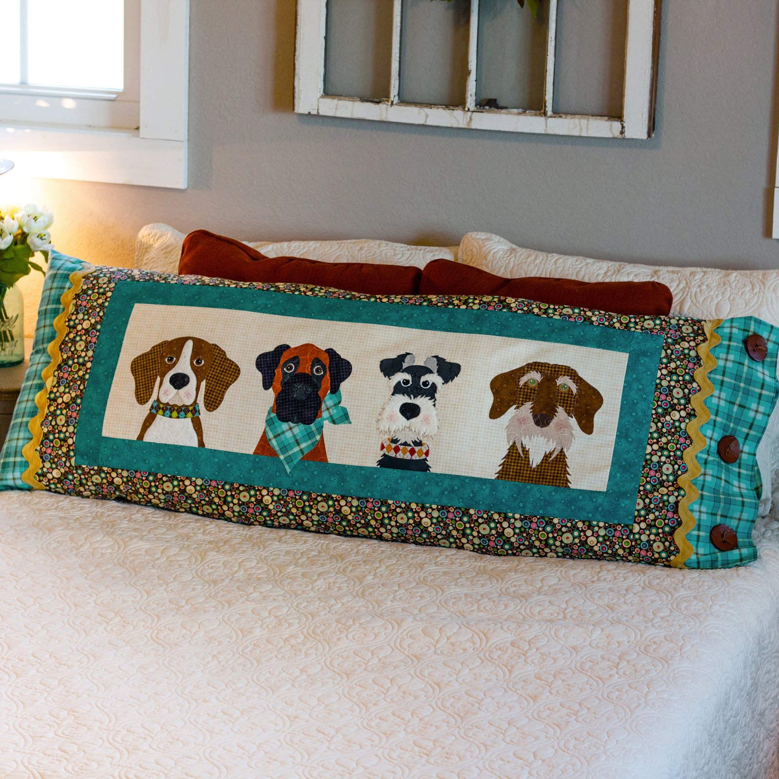 Furry Friends Applique Bench Pillow - Pattern