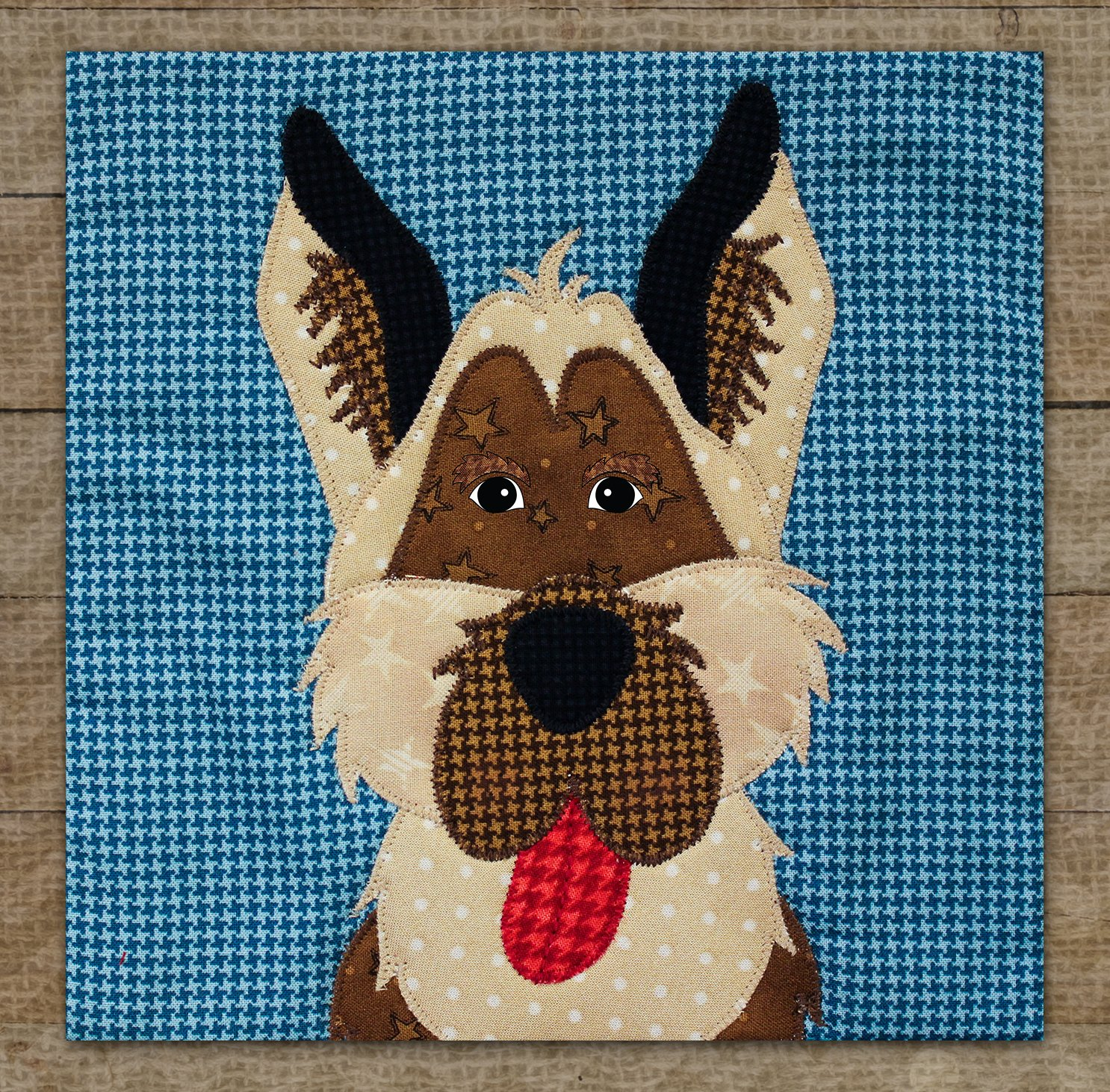 German Shepherd Precut Fused Applique Kit