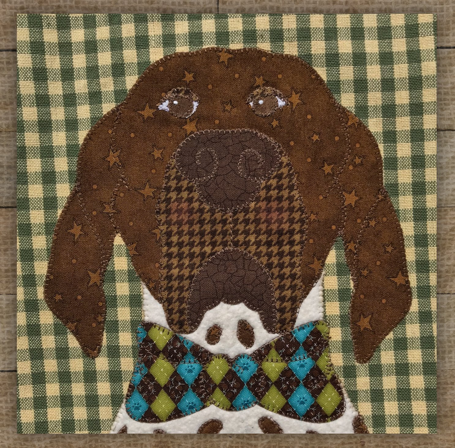 German Shorthaired Pointer Brown - Precut Fused Applique Kit