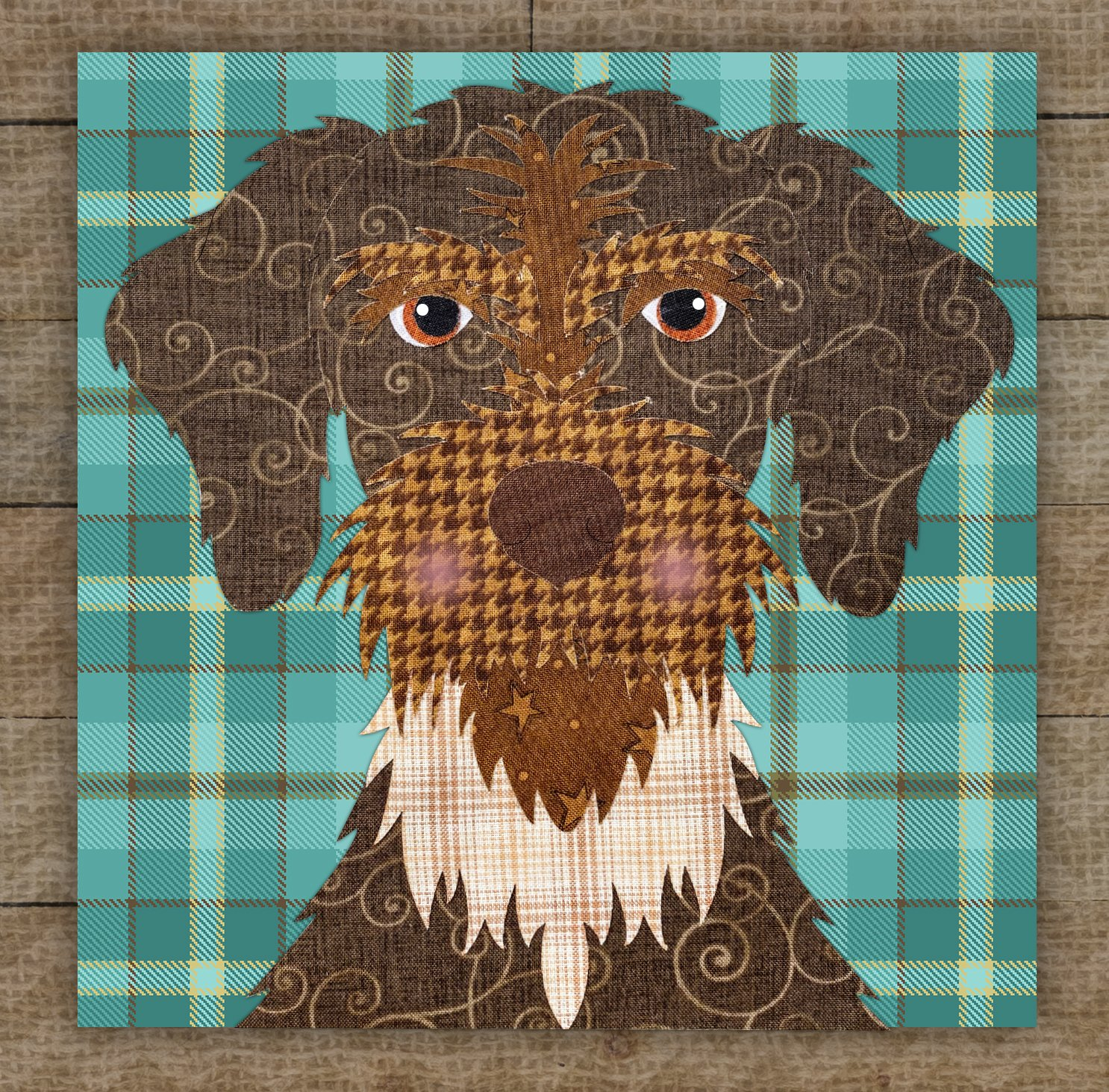 German Wirehaired Pointer Precut Fused Applique Kit