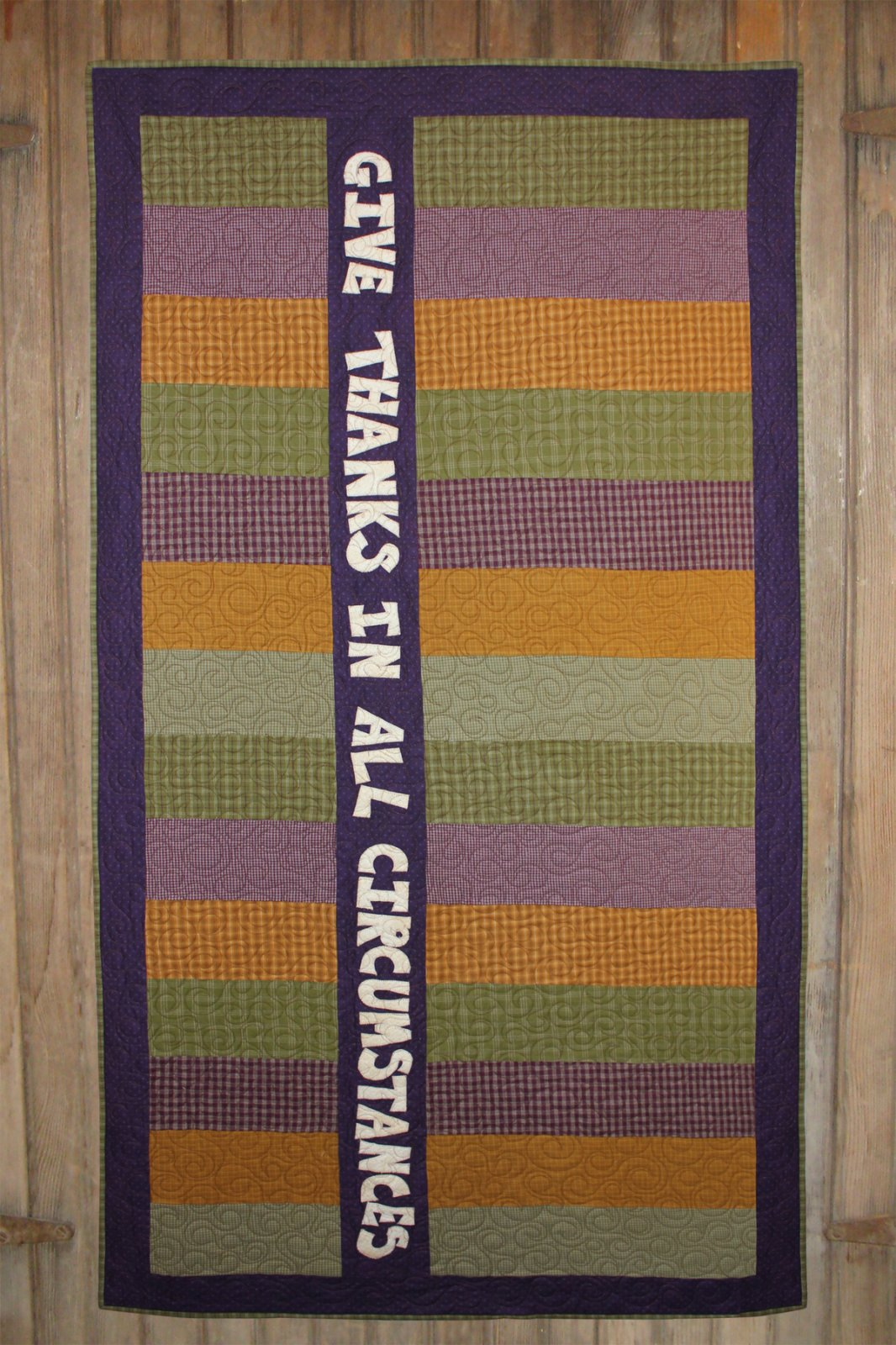 Give Thanks Message Quilt Kit
