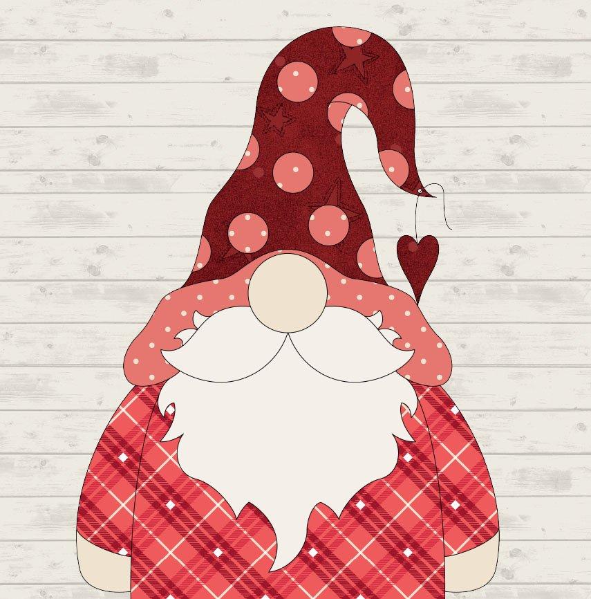 February Gnome Precut Fused Applique Pack