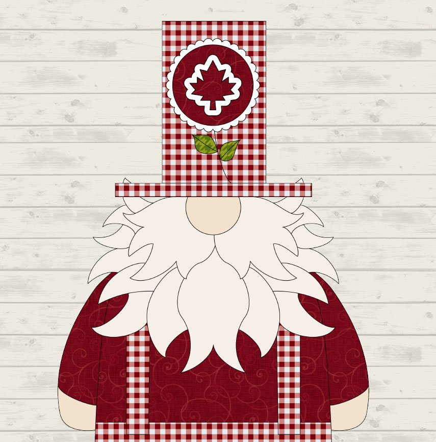 July Canada Gnome Precut Fused Applique Pack