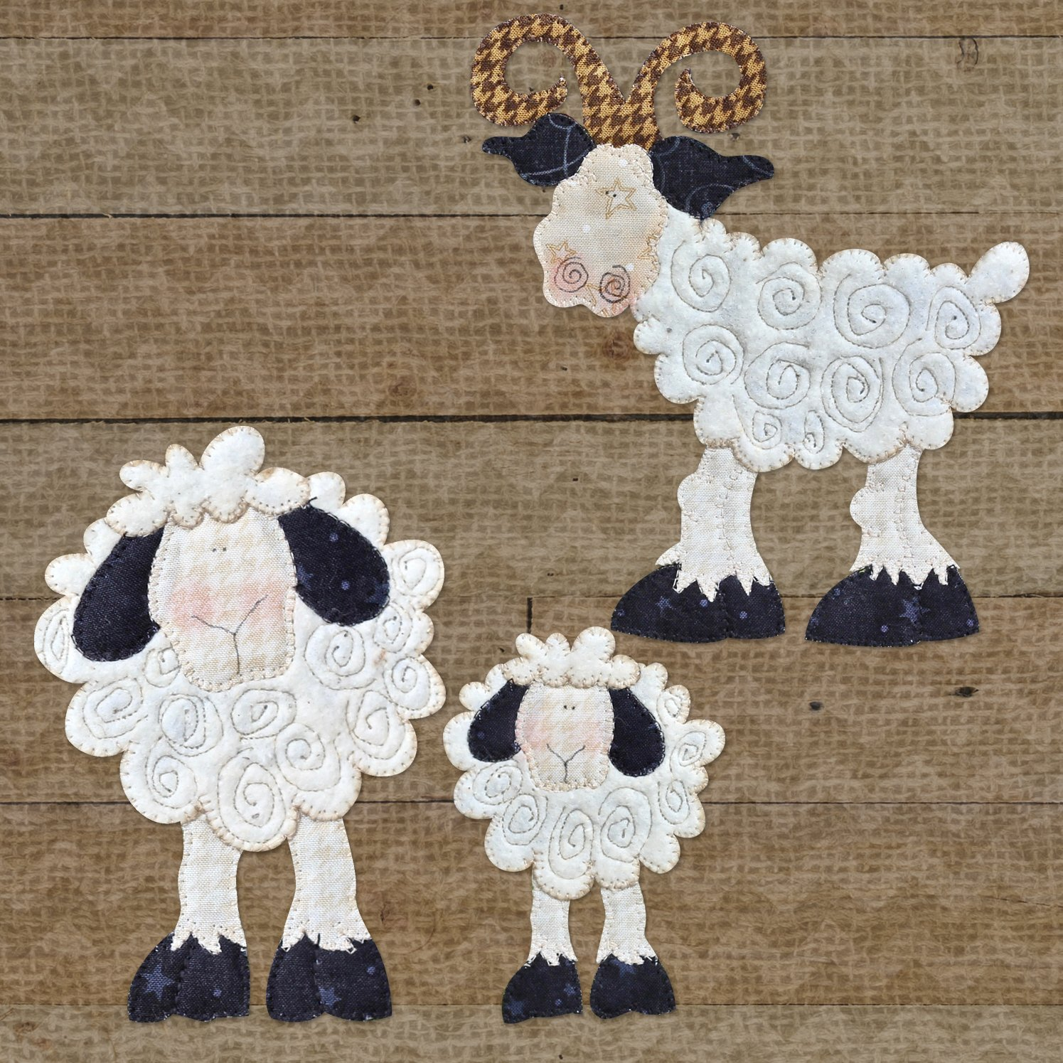 Goat & Sheep Precut Fused Applique Kit