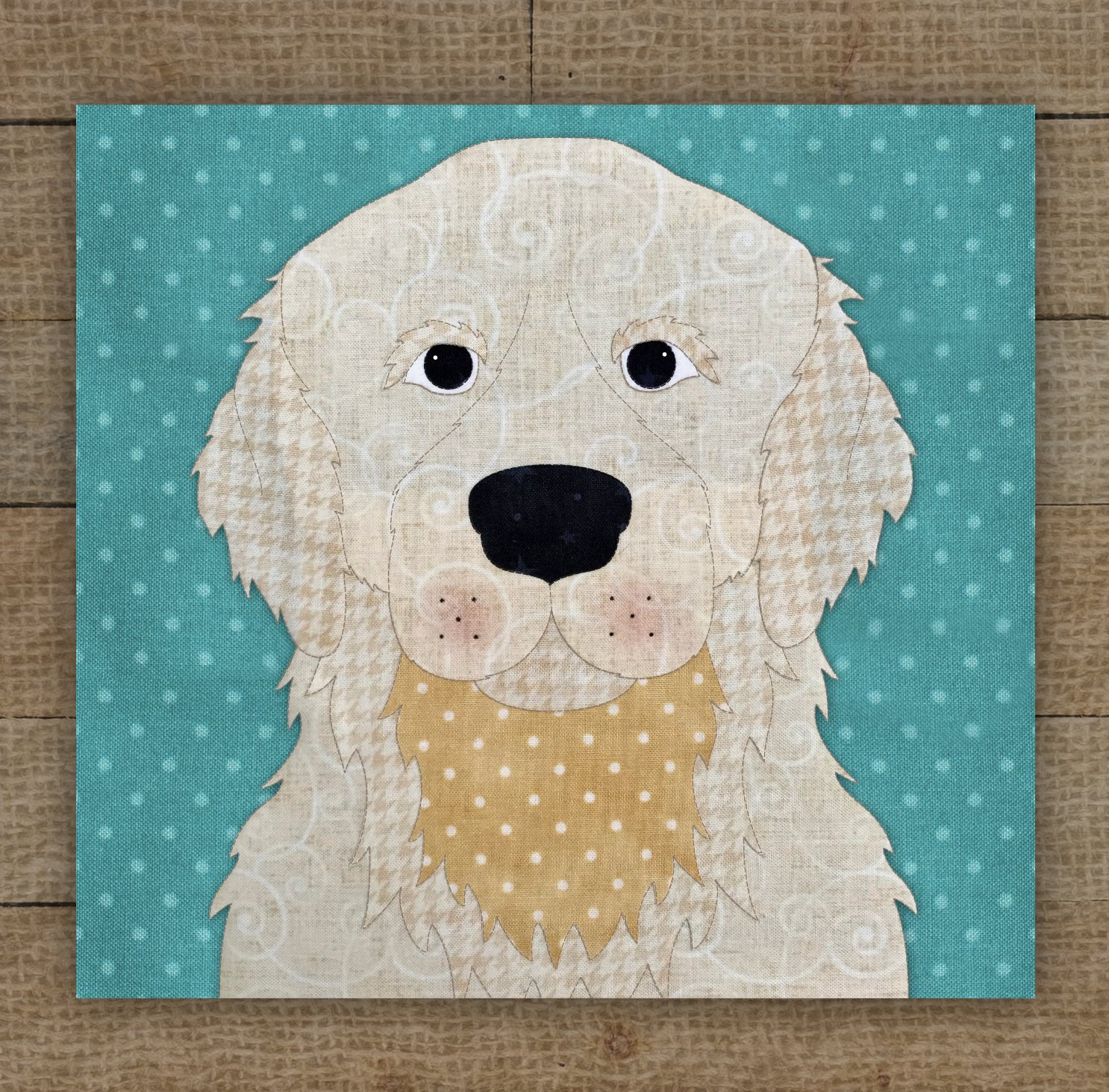 Golden Retriever (Cream) Precut Fused Applique Kit