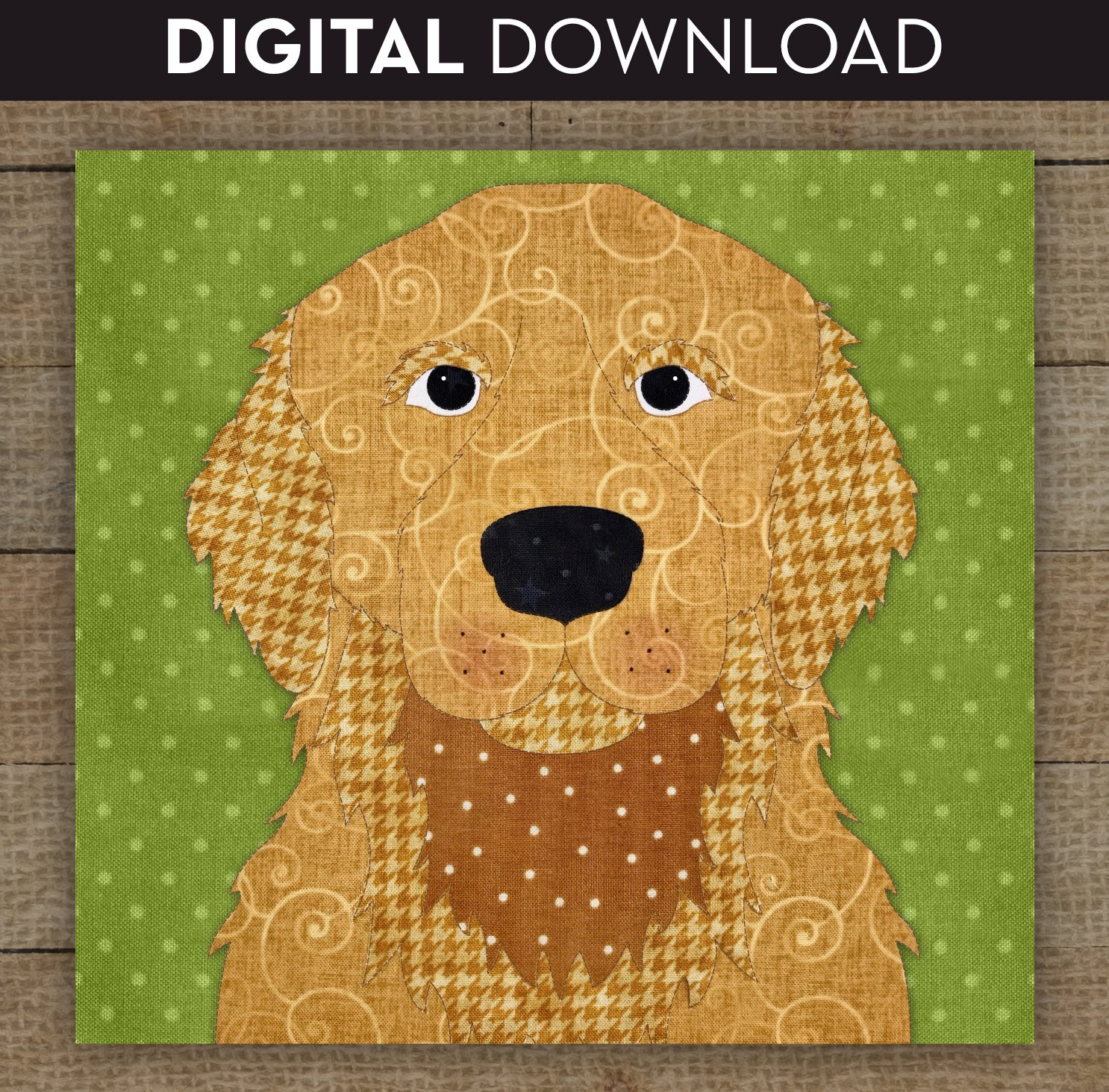Golden Retriever Cream & Gold - Download