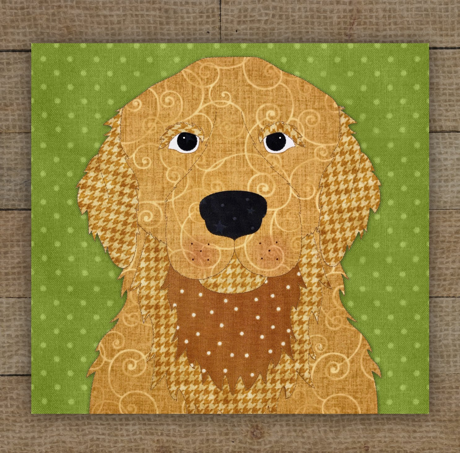 Golden Retriever (Gold) Precut Fused Applique Kit