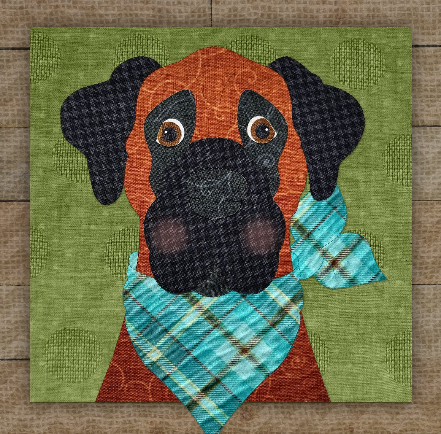 Great Dane 2 Precut Fused Applique Kit