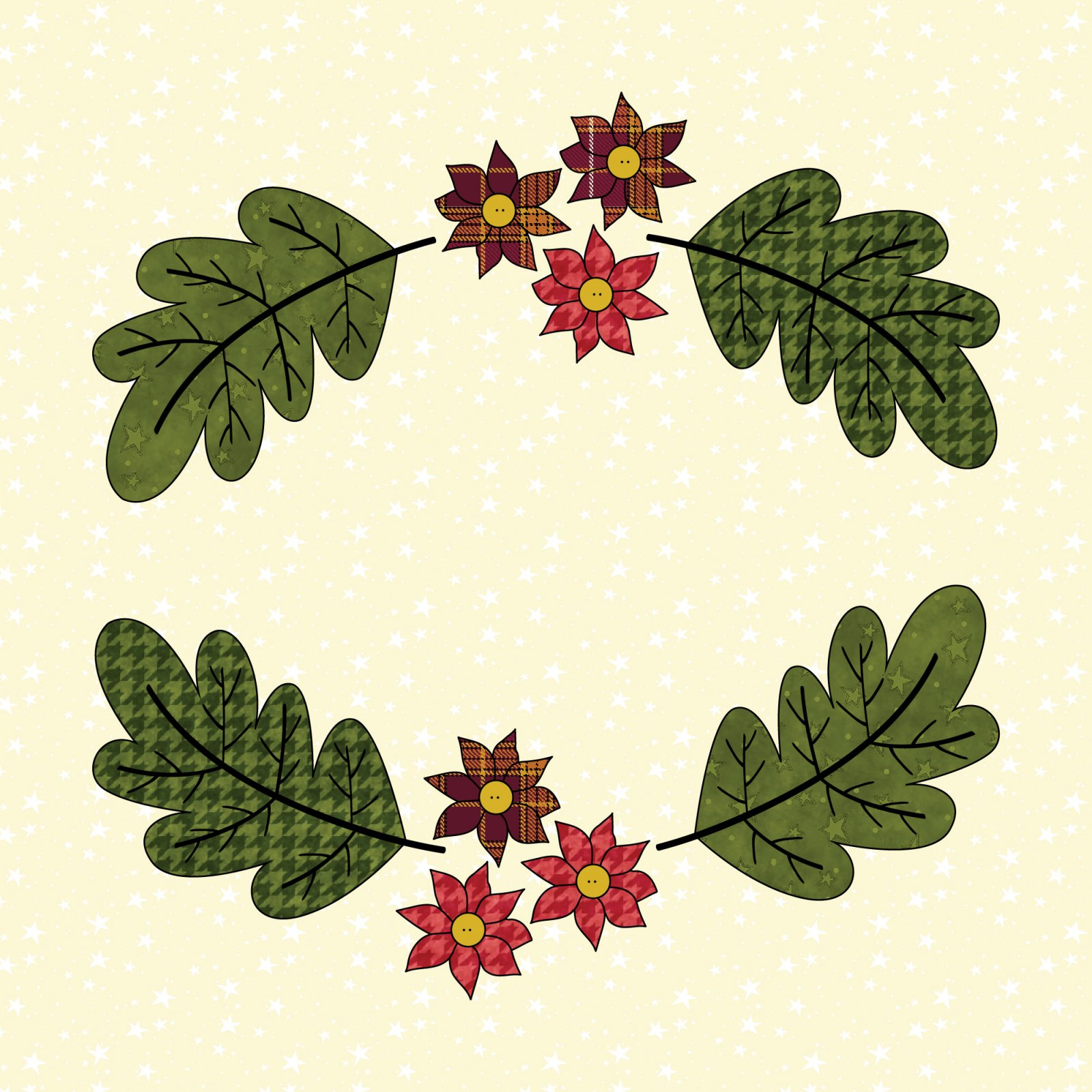 Leaf & Flower Frame - Pattern