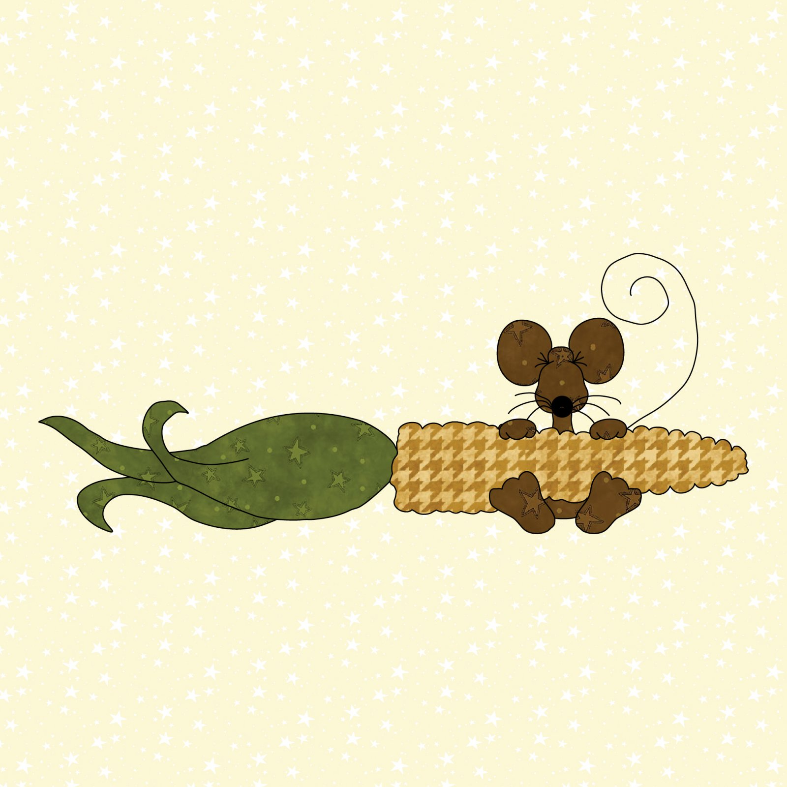 Mouse & Corn Precut Fused Applique Kit