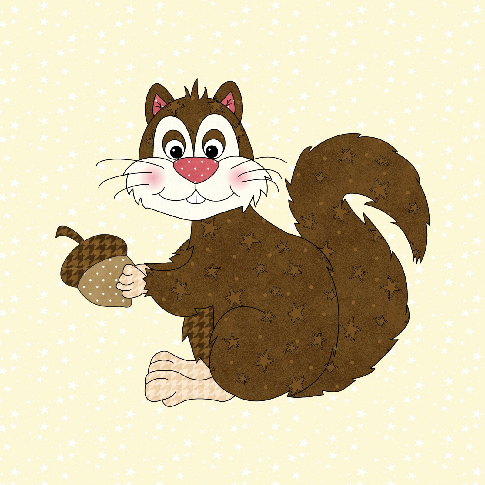 Squirrel Precut Fused Applique Kit