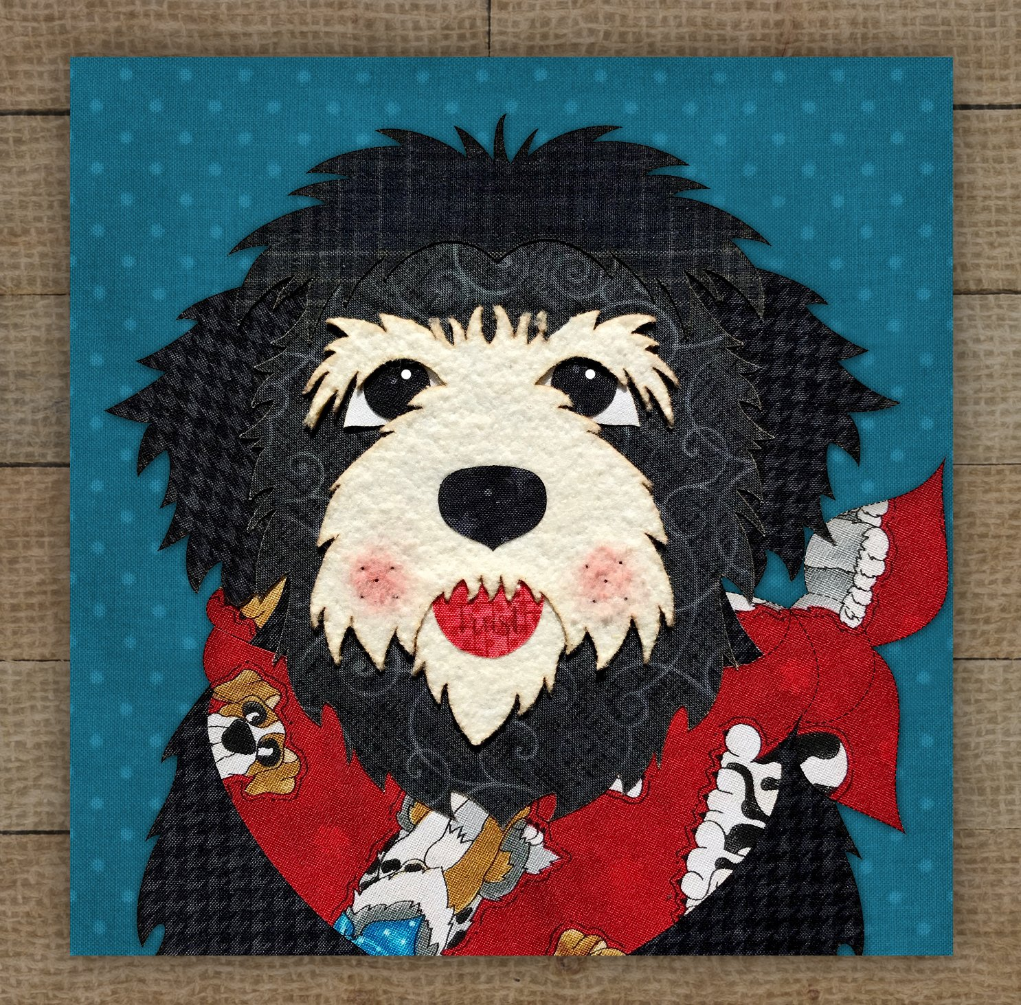 Havanese (Black) Precut Fused Applique Kit