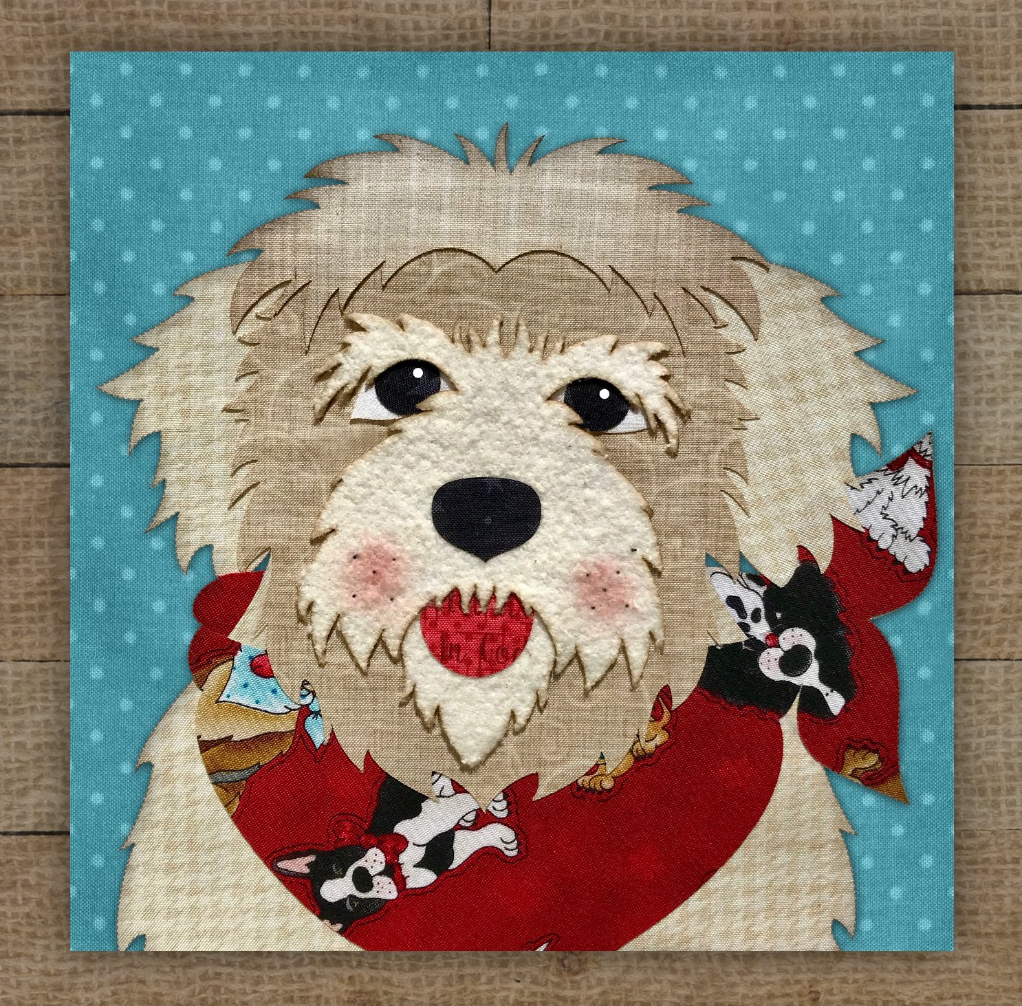 Havanese (Tan) Precut Fused Applique Kit