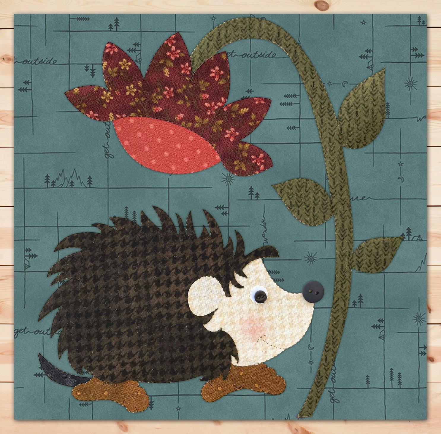 Hedgehog Flannel Precut Applique