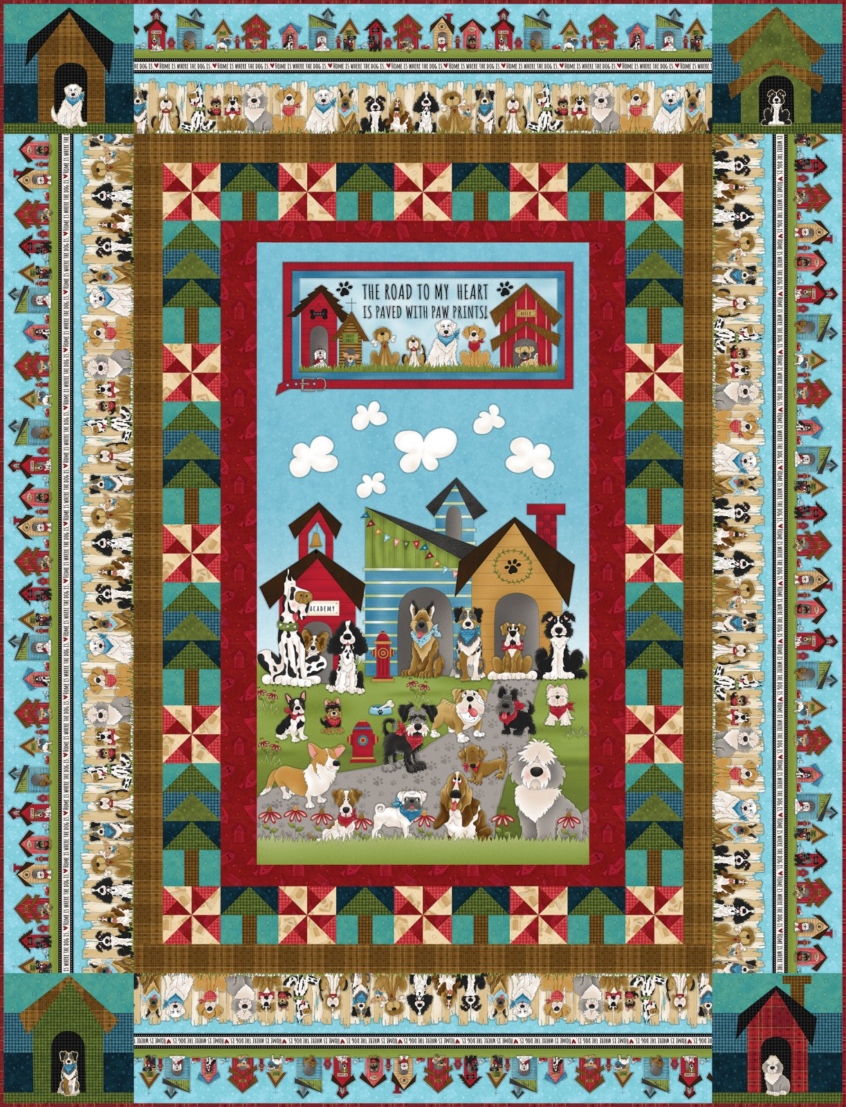 Home Is Where the Dog Is Panel Quilt Kit