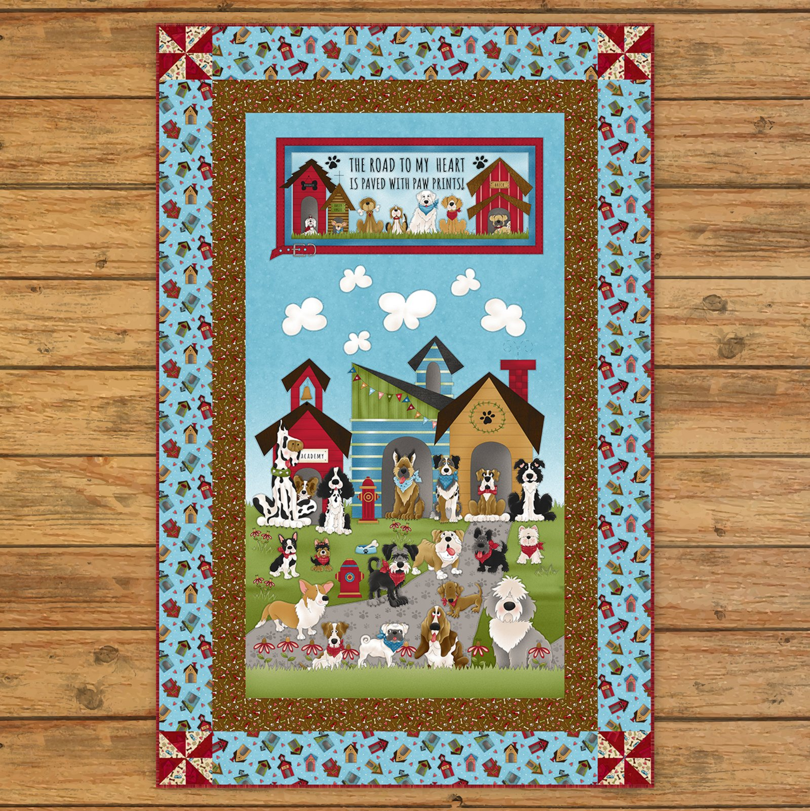 Home is Where the Dog Is Panel Quilt