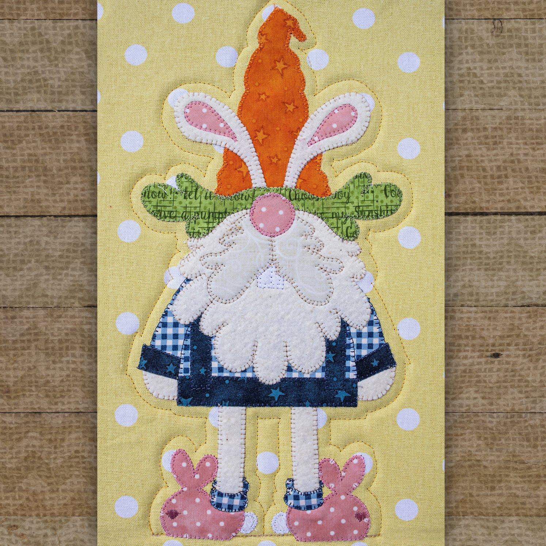 Hoppy Gnome Precut Fused Applique Pack