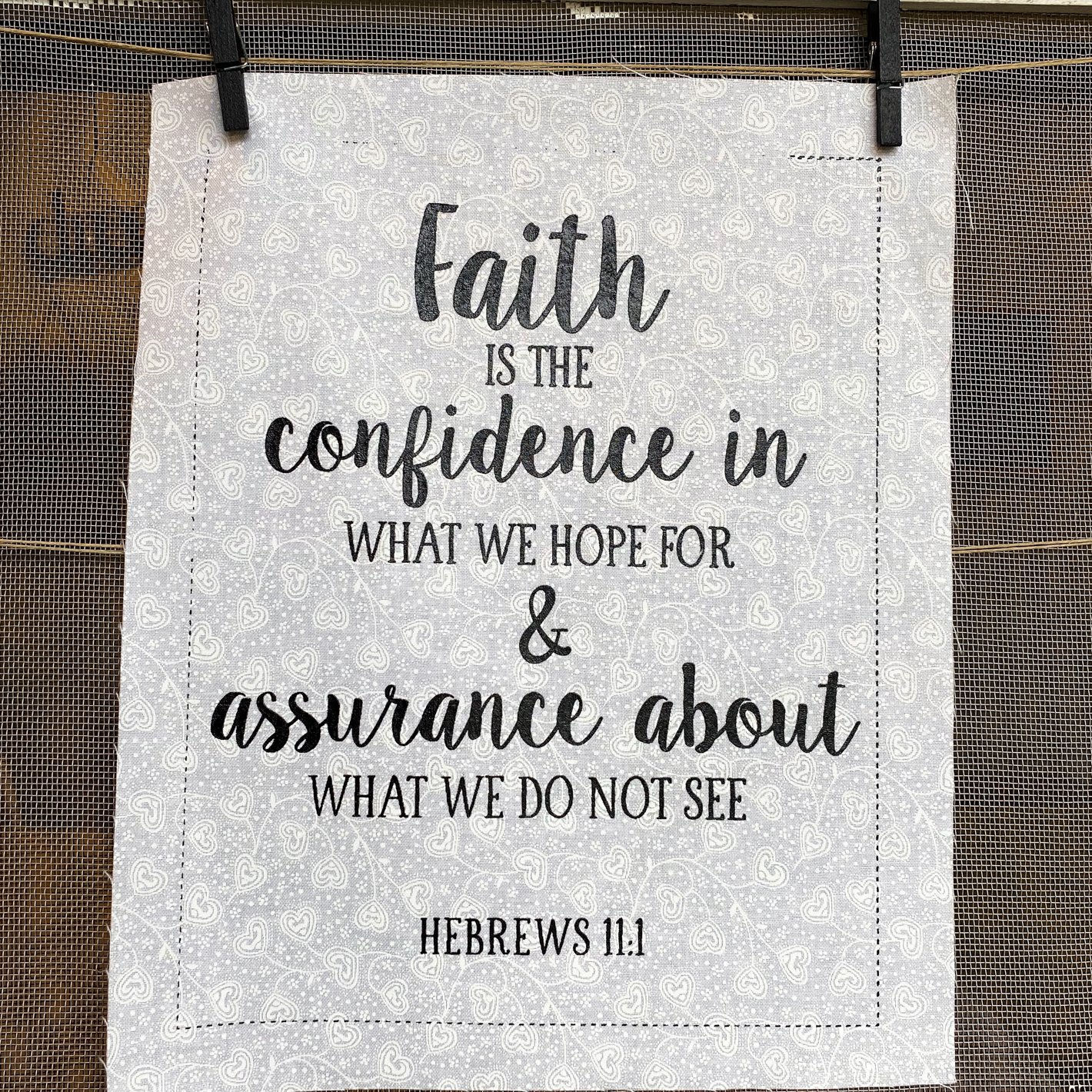 S-1: Faith is the confidence...