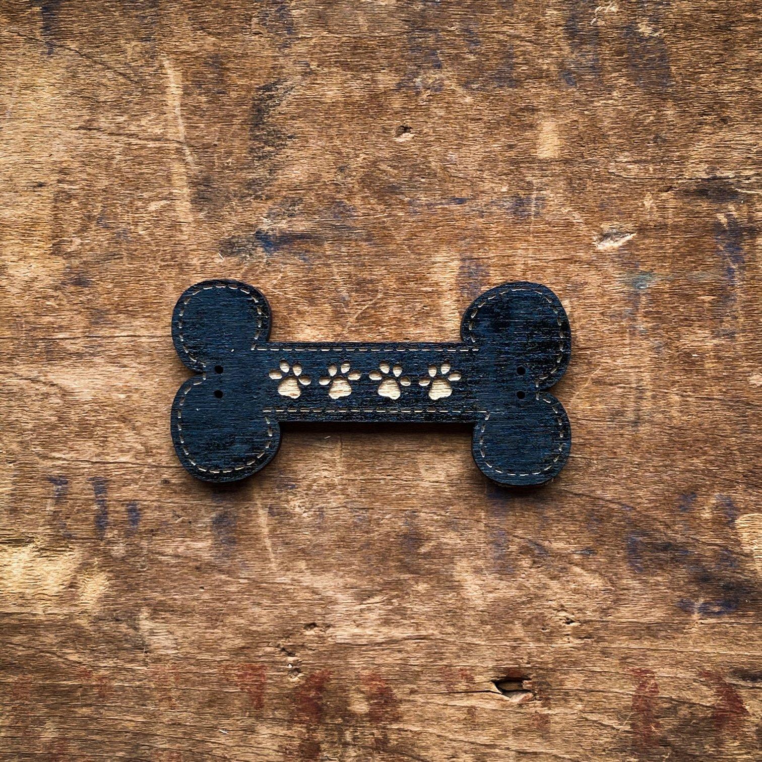 Pawprint Bone Buttons