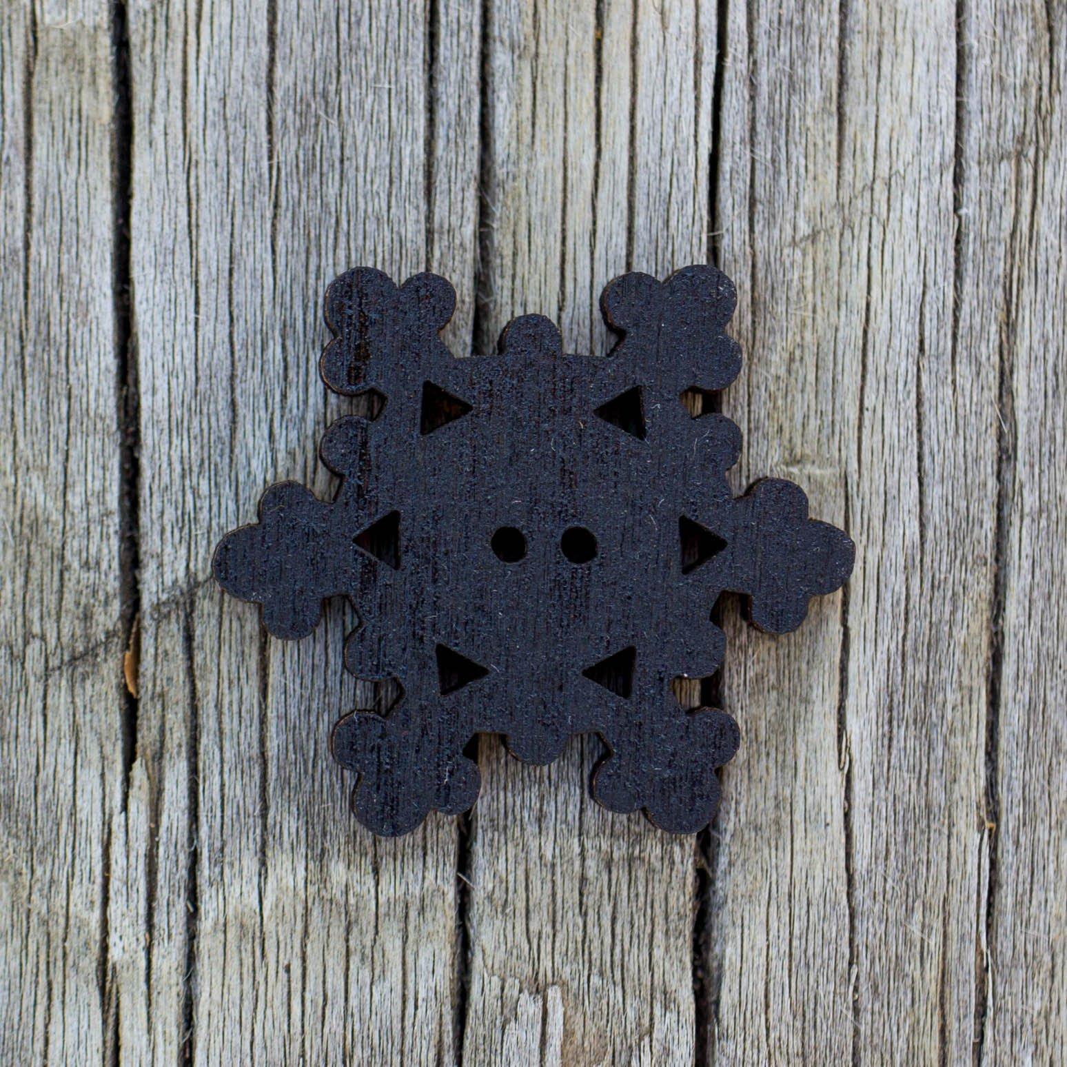 Snowflake Button - Black