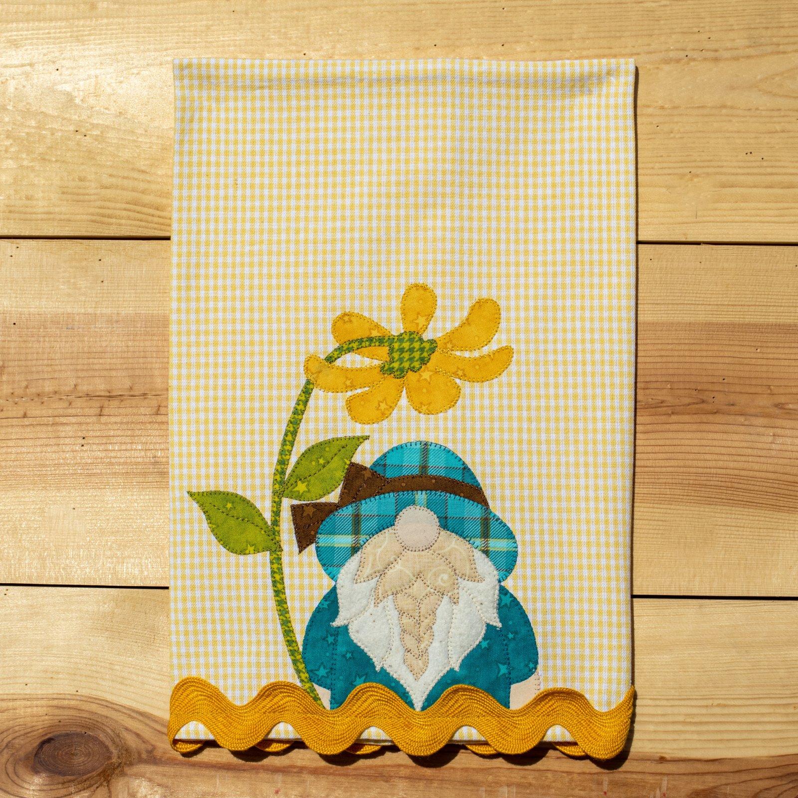 Spring Gnome Applique Tea Towel Kit