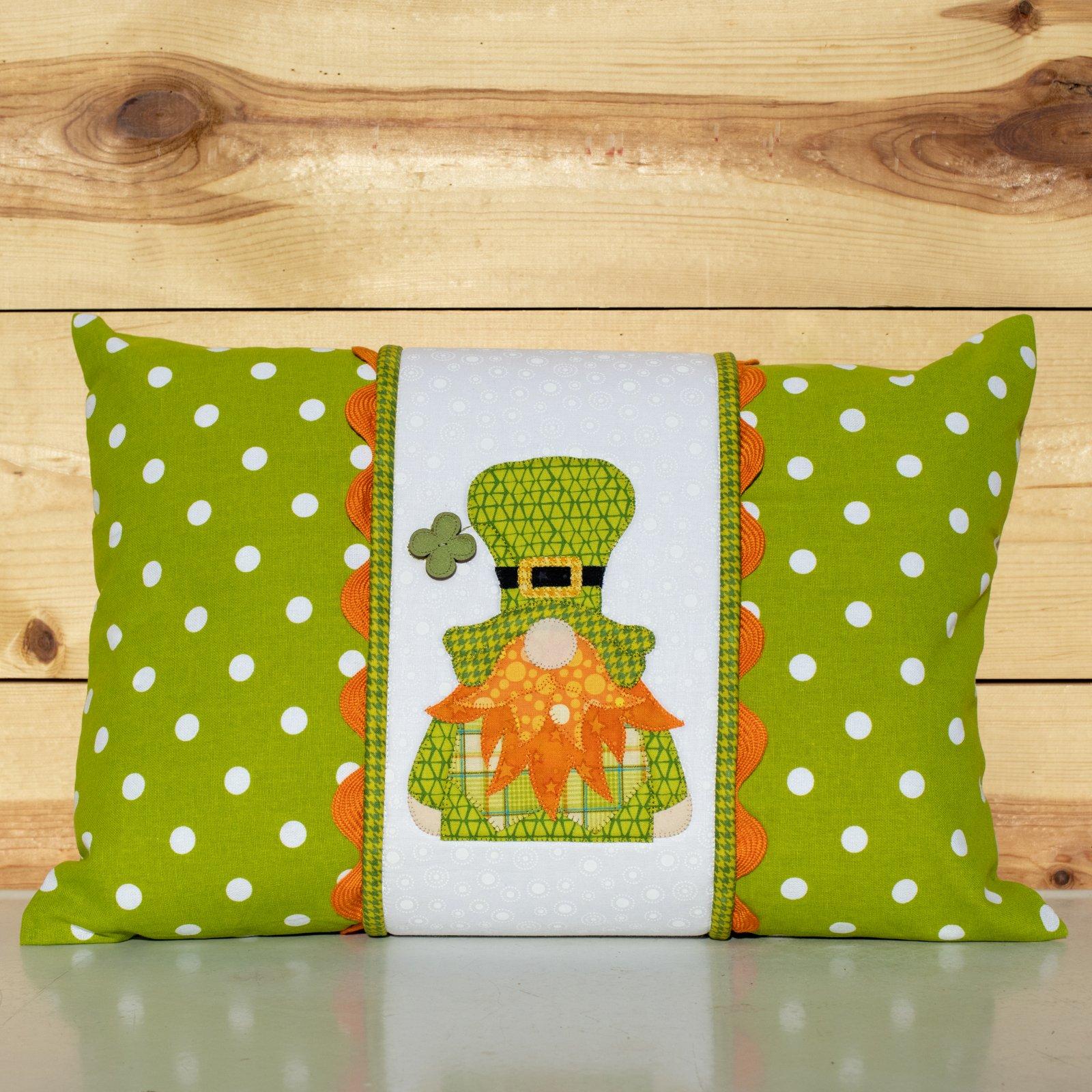 Irish Gnome Pillow Wrap & Cover Kit