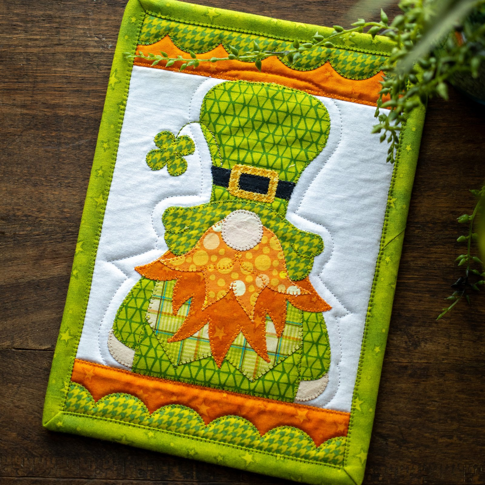 Irish Gnome Mug Rug Kit