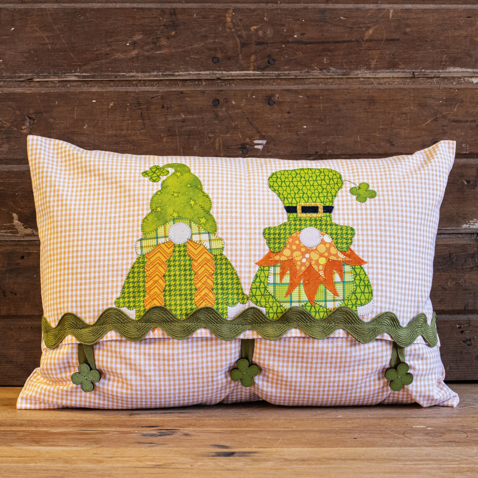 Irish Gnomes Applique Pillow Cover Kit