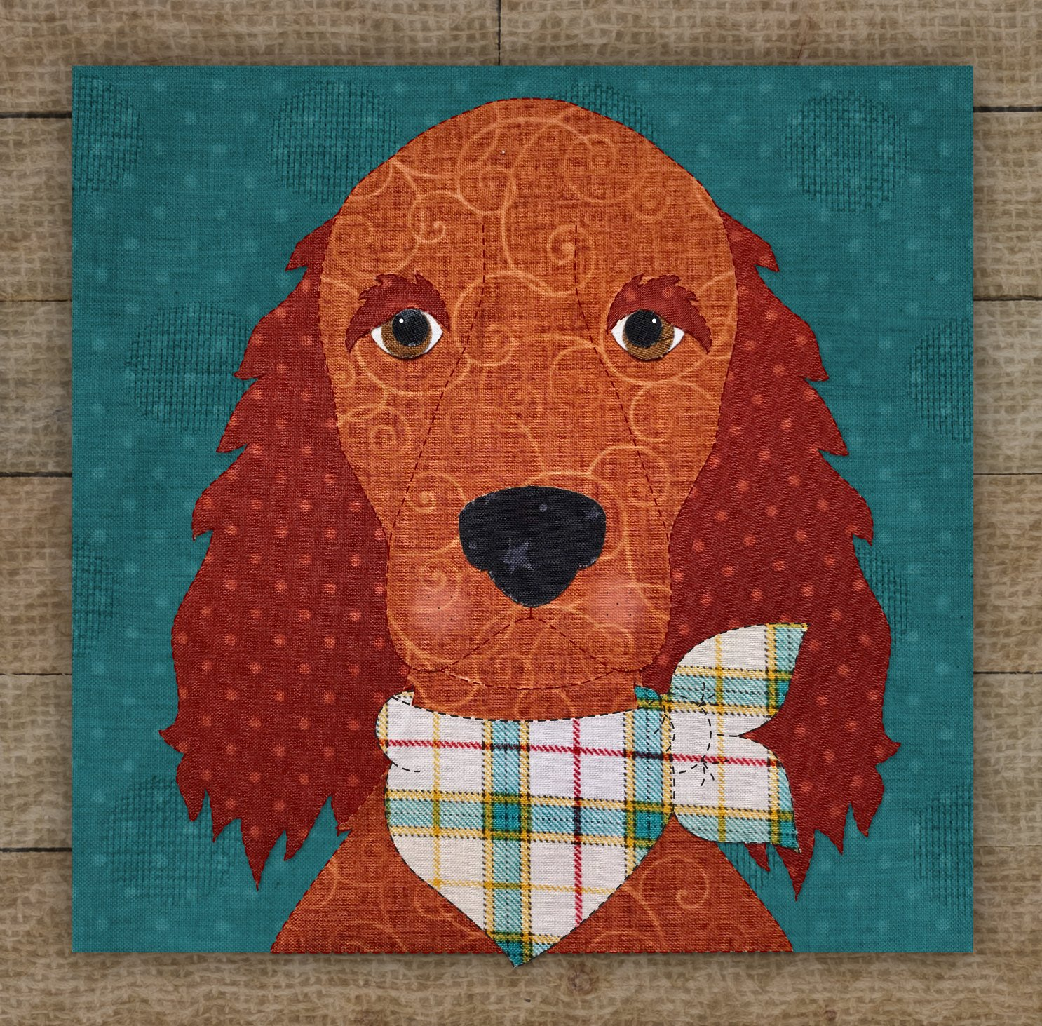 Irish Setter Precut Fused Applique Kit