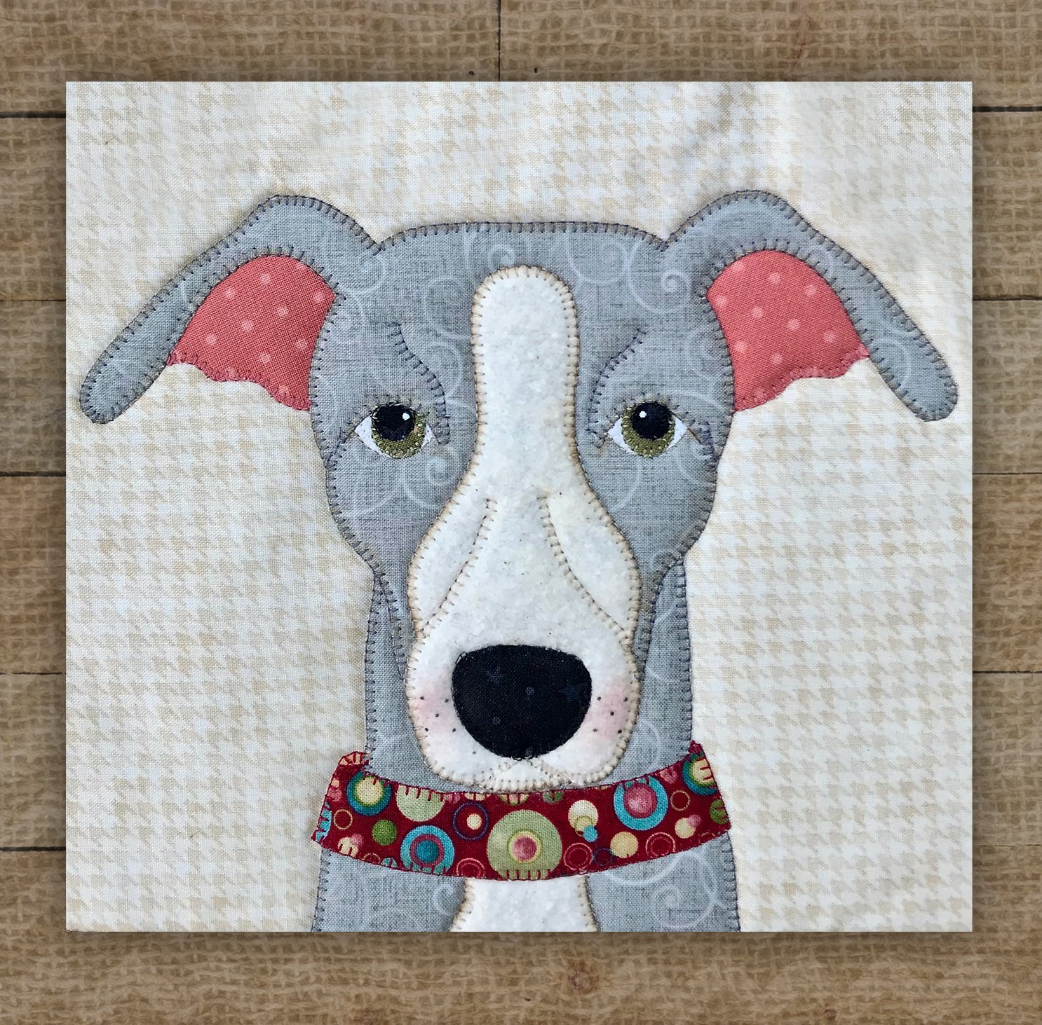 Italian Greyhound Grey Precut Fused Applique Kit