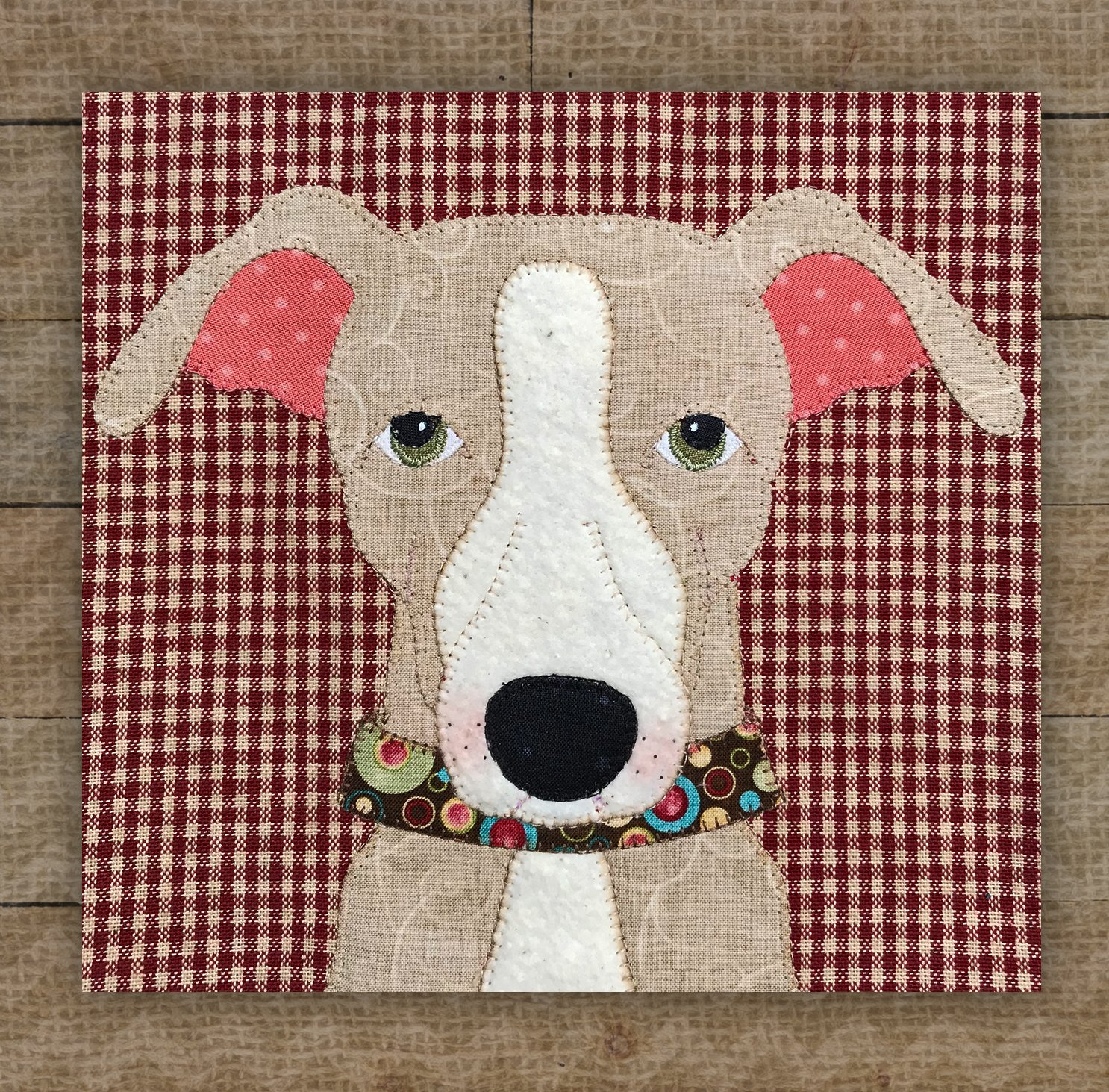 Italian Greyhound Brown Precut Fused Applique Kit