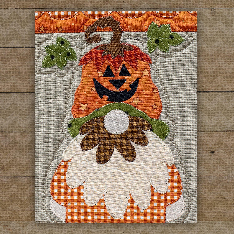Jack-O'-Lantern Gnome Precut Fused Applique Pack